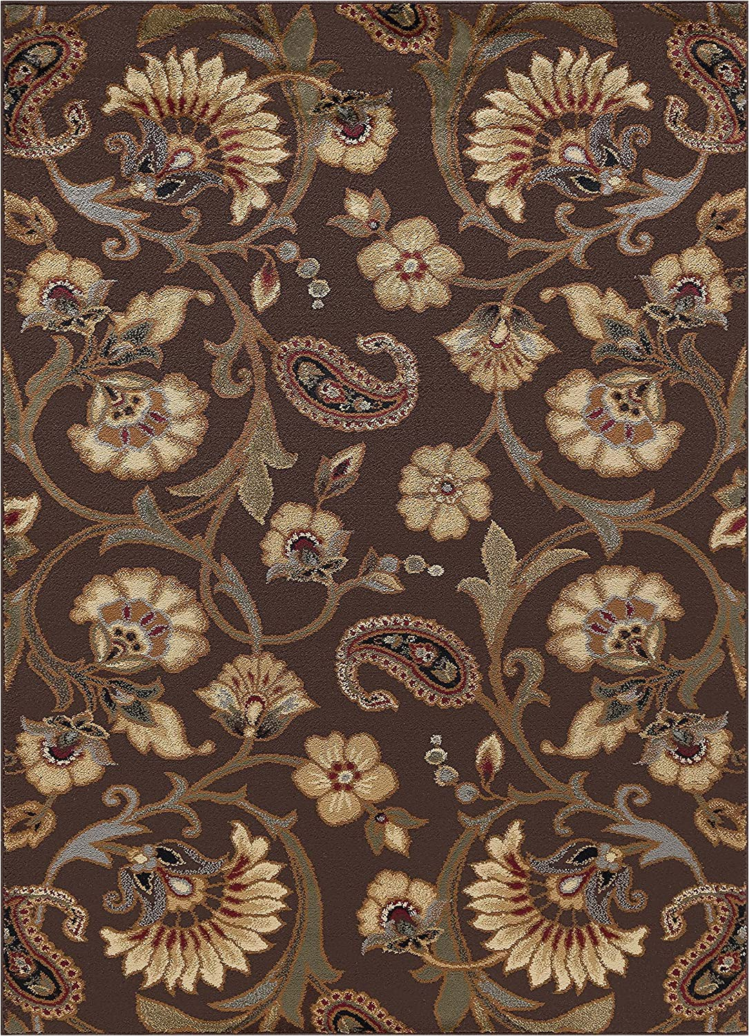 Mainstays Titan area Rug Black Universal Rugs Brown 5×7 area Rug 5 Feet by 7 Feet