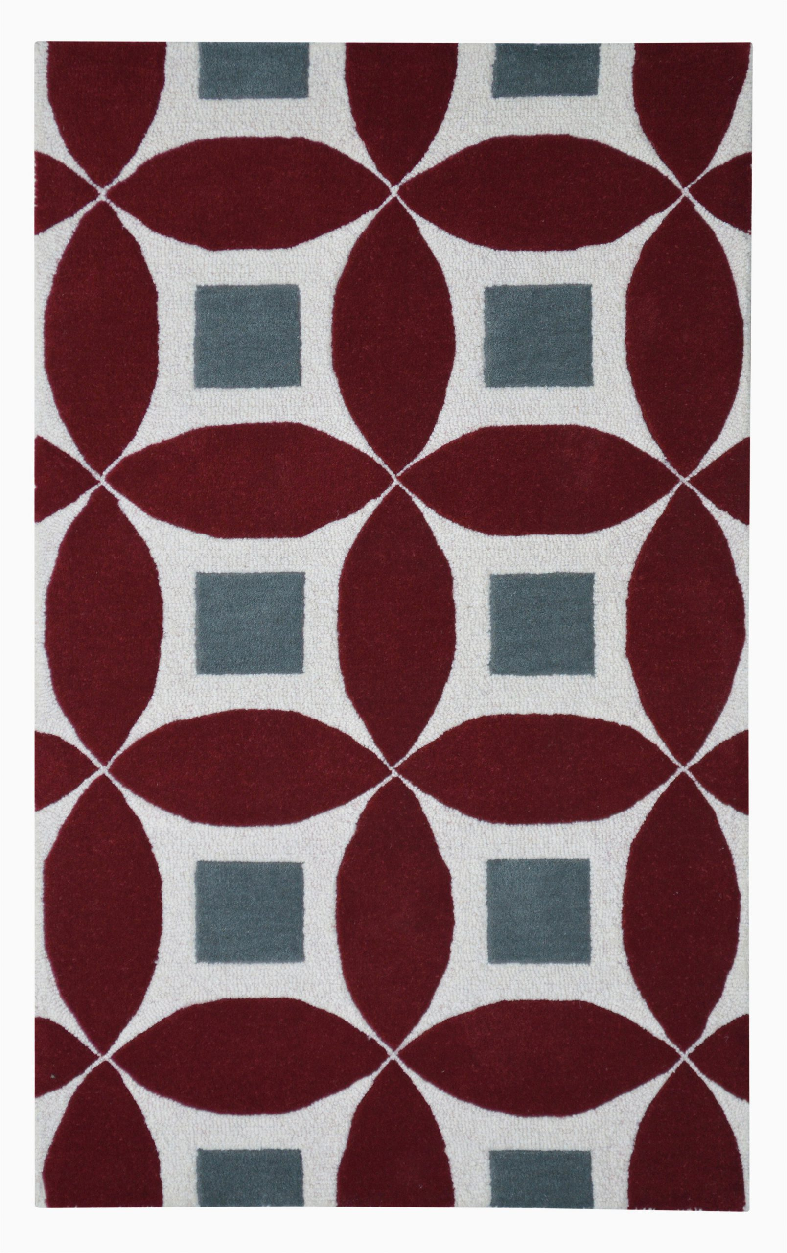 Maroon and Gray area Rugs Henley Hand Tufted Burgundy Gray area Rug