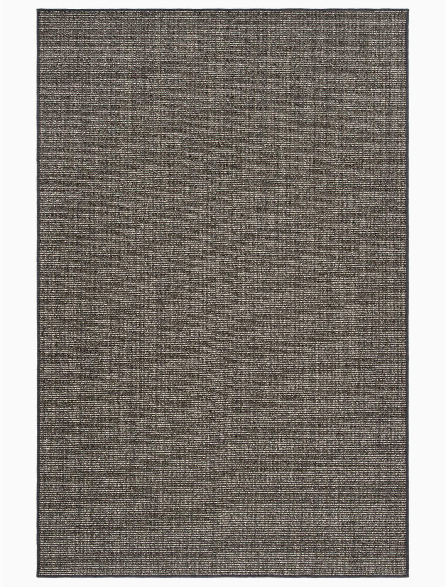 Martha Stewart Manor House area Rug Martha Stewart 9501 Power Loom Jute Sisal Charcoal Indoor area Rug