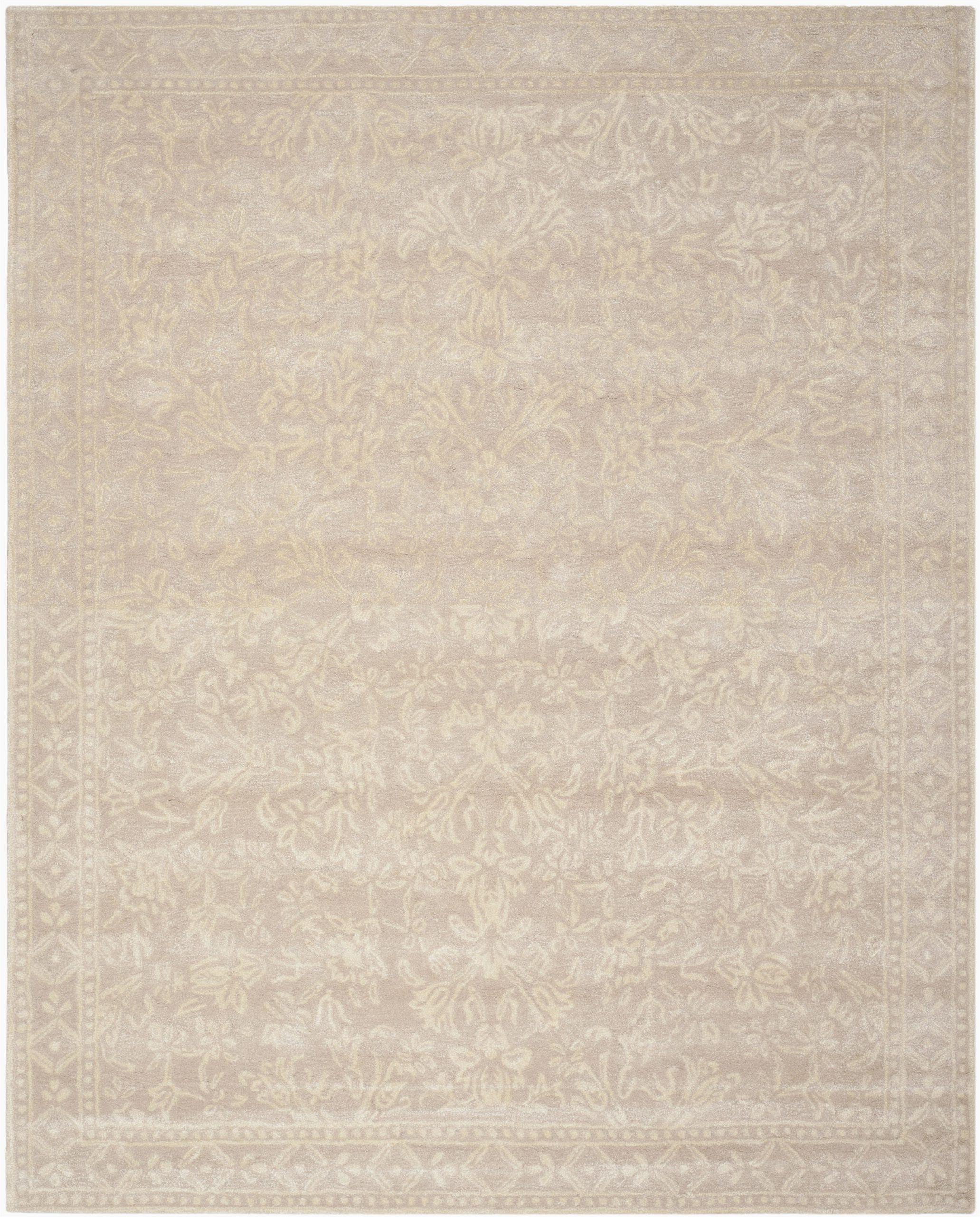 martha stewart hand tufted ivorybeige area rug