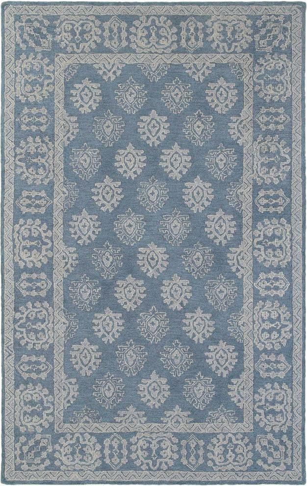 "Martha Stewart Manor House area Rug oriental Weavers Manor 3 6""x5 6"" Blue Gray Rug"