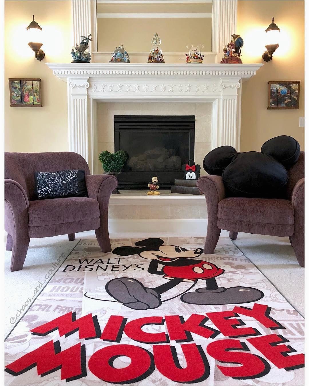 Mickey and Minnie Mouse area Rug Classic Mickey Living Room Disney Home I Disney Decor I