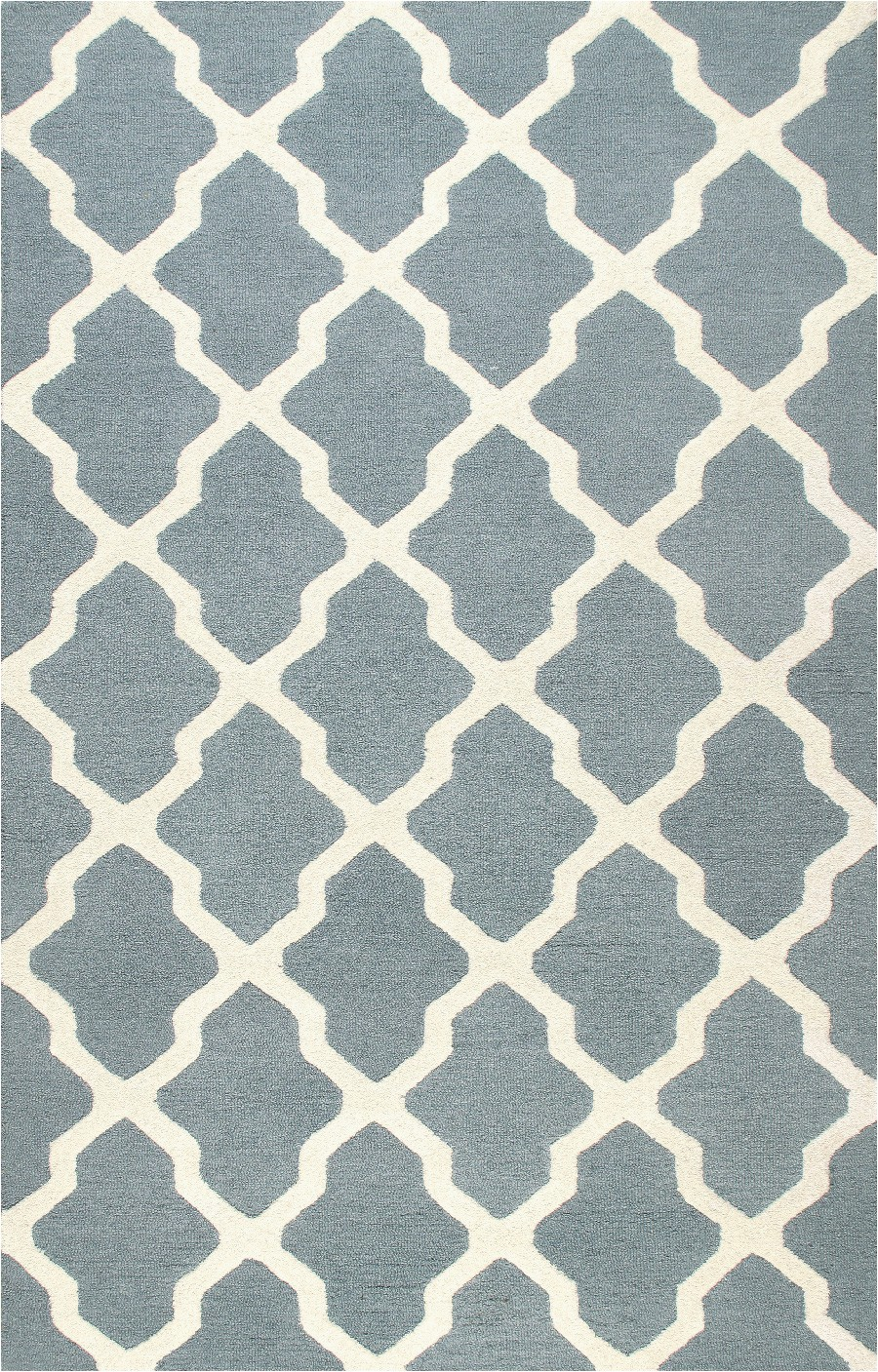 rugsville moroccan trellis 58 blue ivory wool rug 5x8