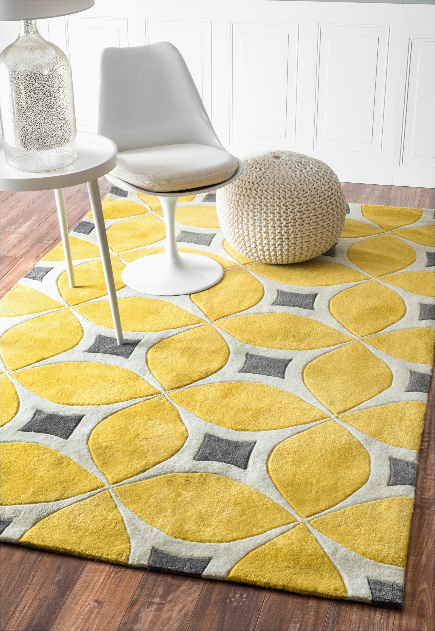 Yellow nuLOOM handmade modern disco rug from Overstock1