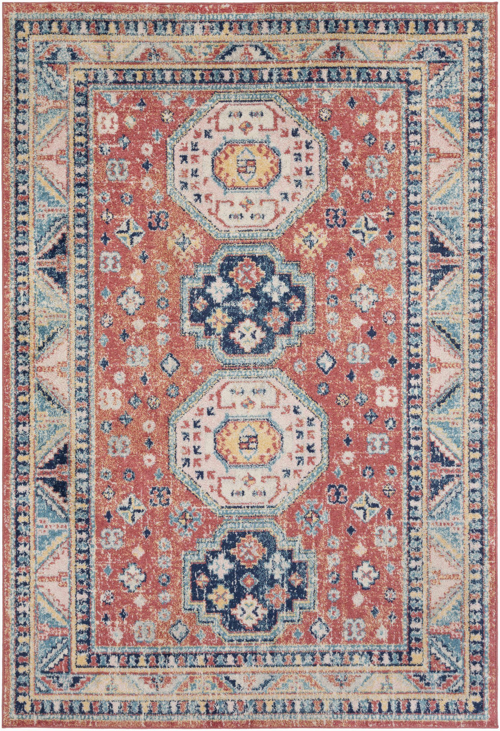 bilaal oriental garnetnavy area rug