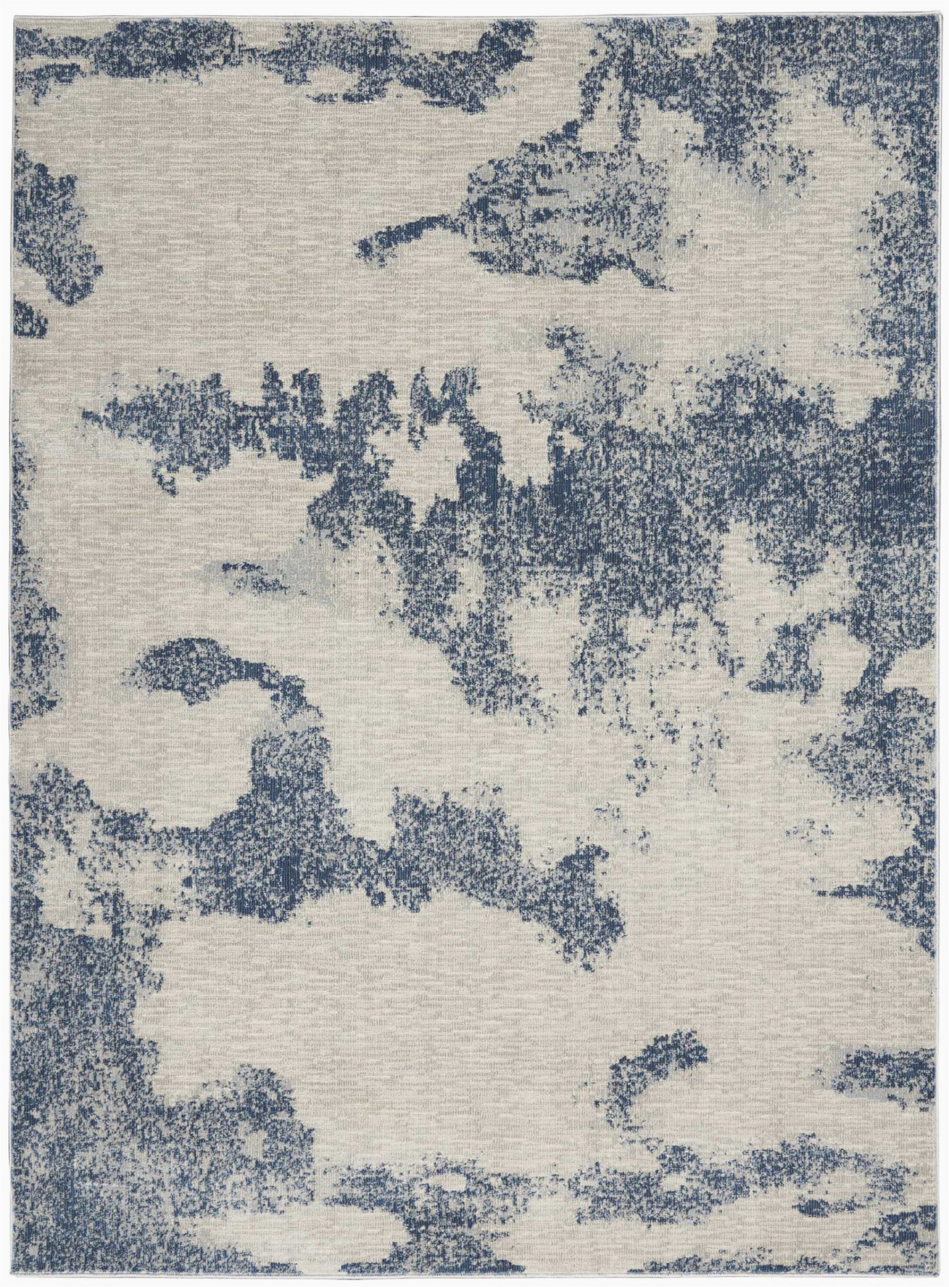 schooley abstract ivorynavy blue area rug
