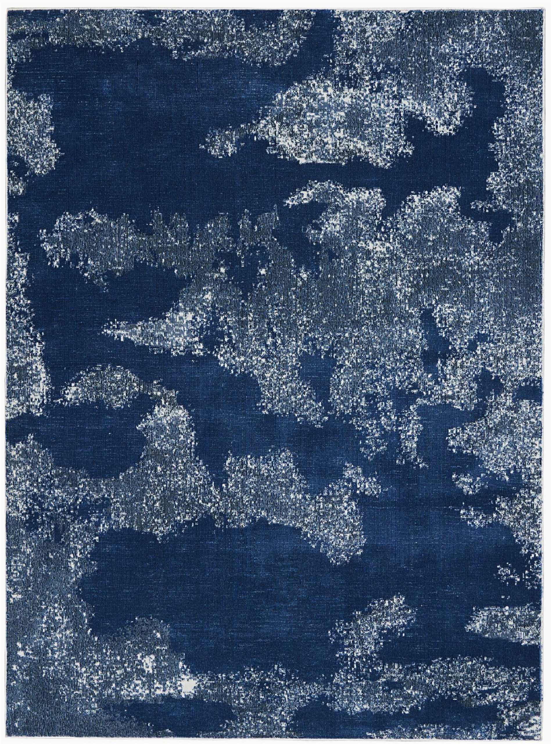 schooley abstract navy blue area rug