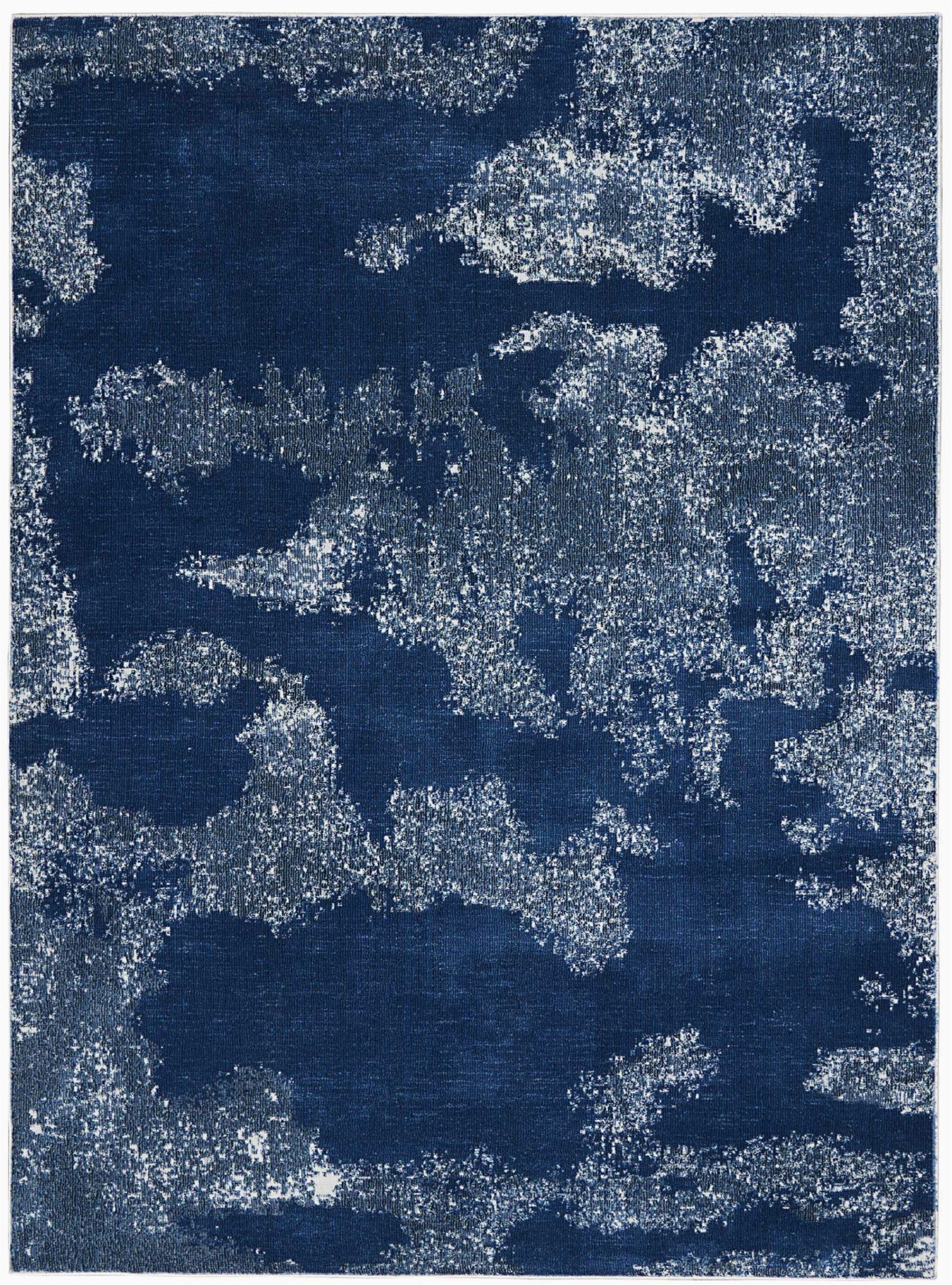 schooley abstract navy blue area rug