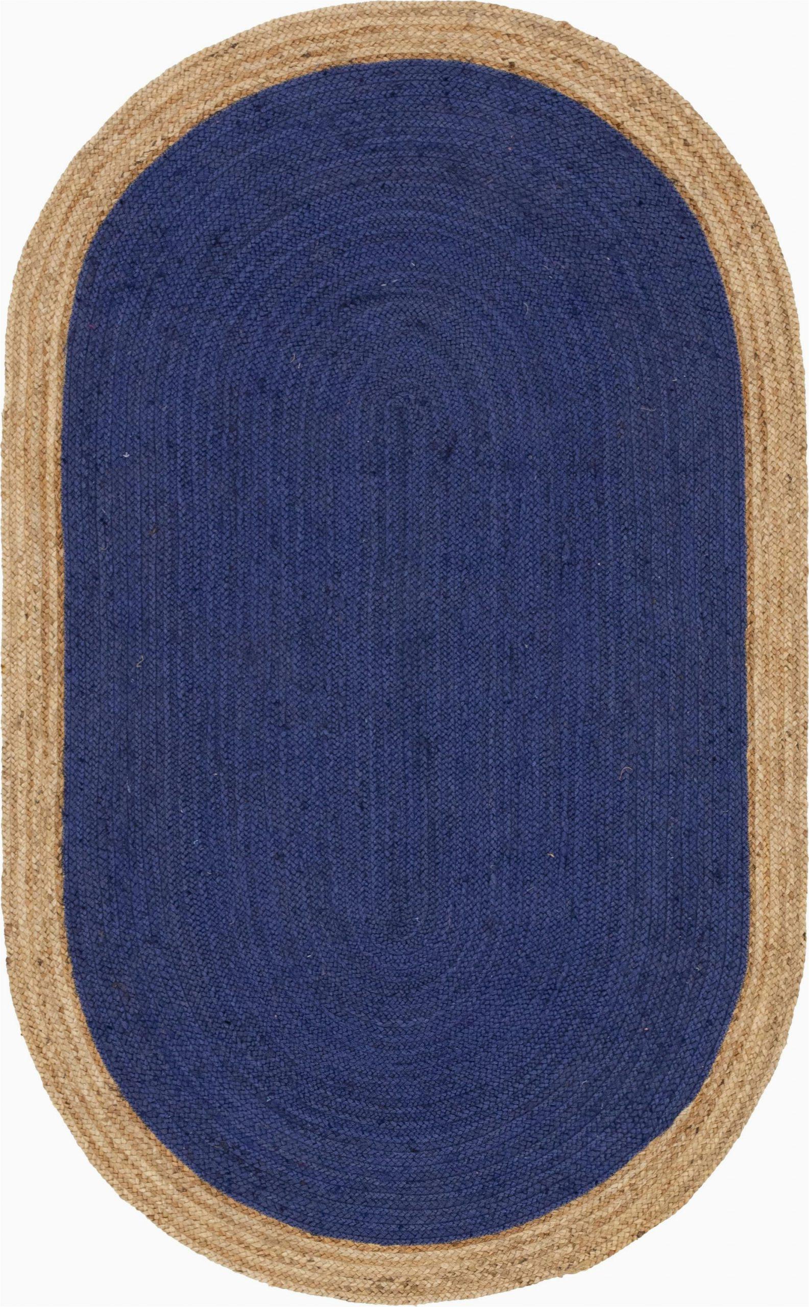 Navy Blue Braided Rugs Navy Blue 5 X 8 Braided Jute Oval Rug Sponsored