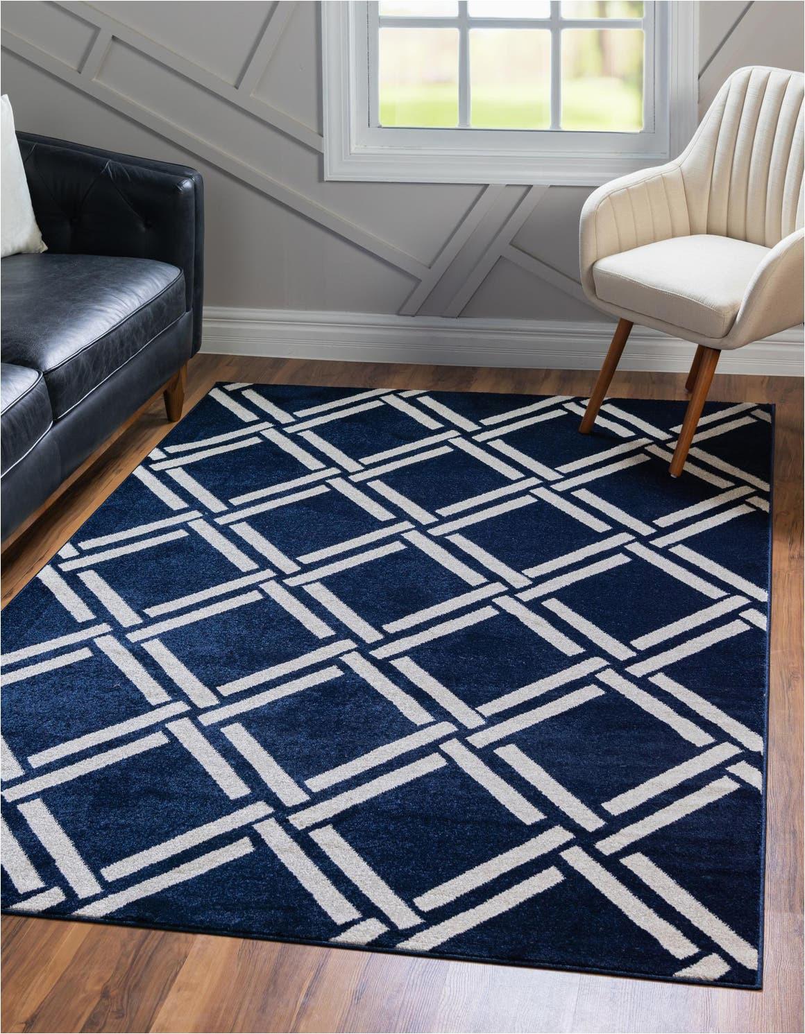 navy blue 9x12 lattice area rug rt=bbcolor