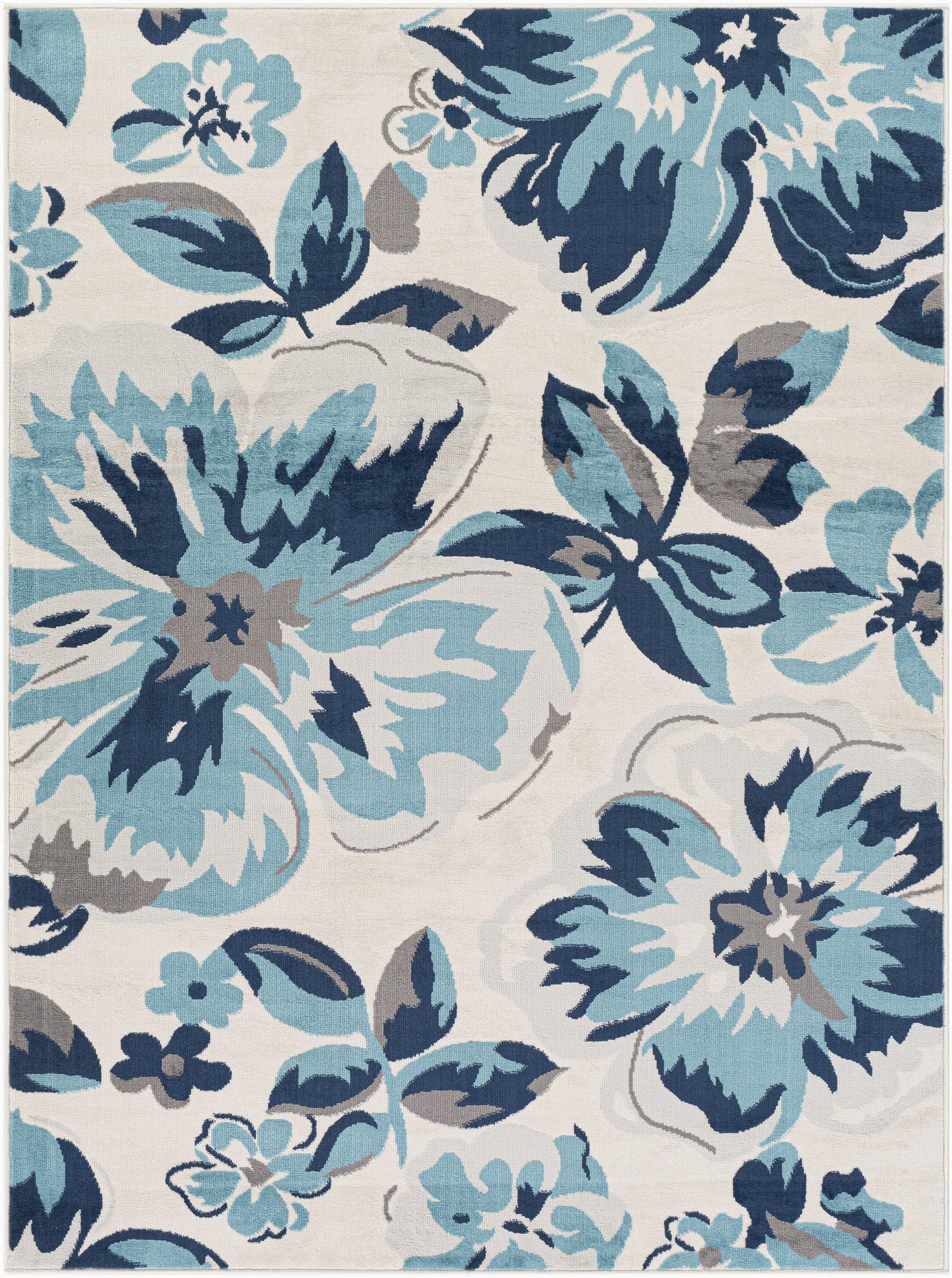 Navy Blue Floral area Rug Bluebelle Floral Navy area Rug