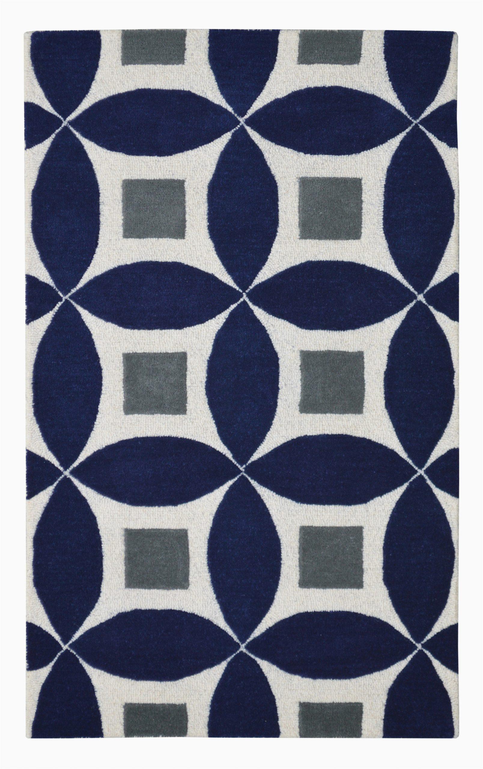 henley 2100 g navy blue modern rug 3x5