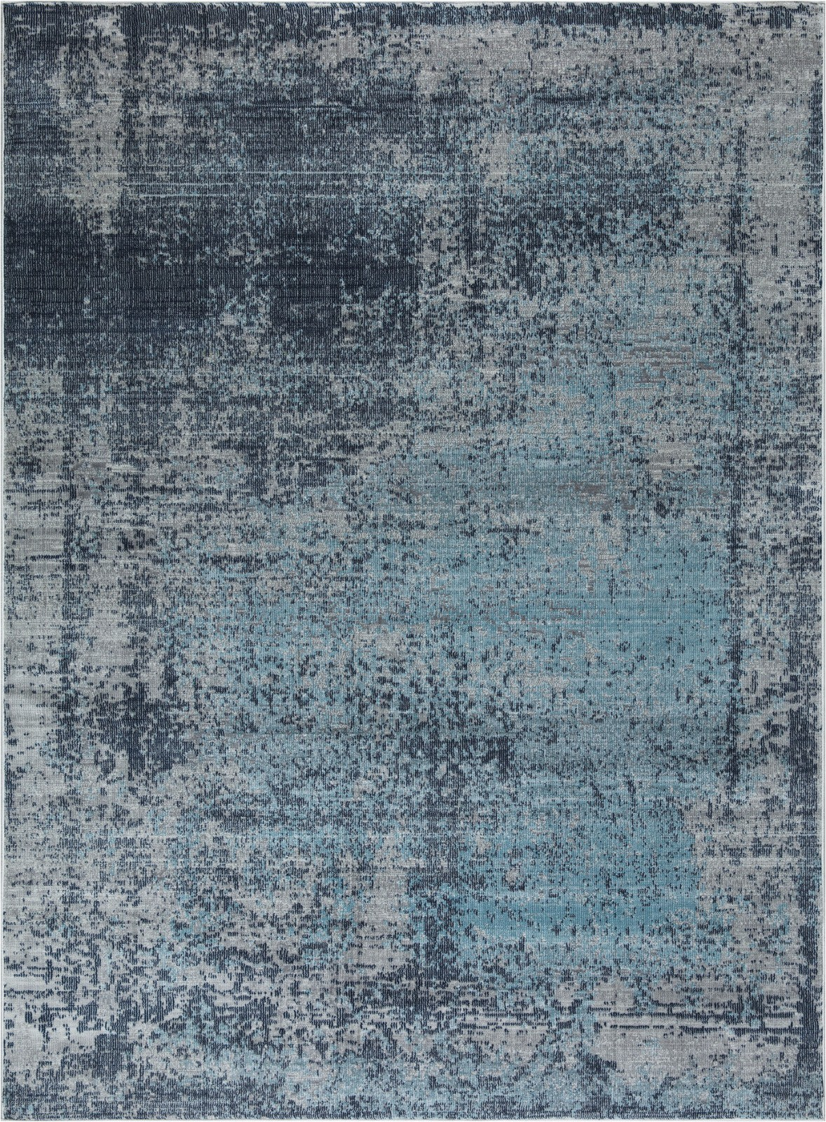 mirage collection navy blue gray 5x8