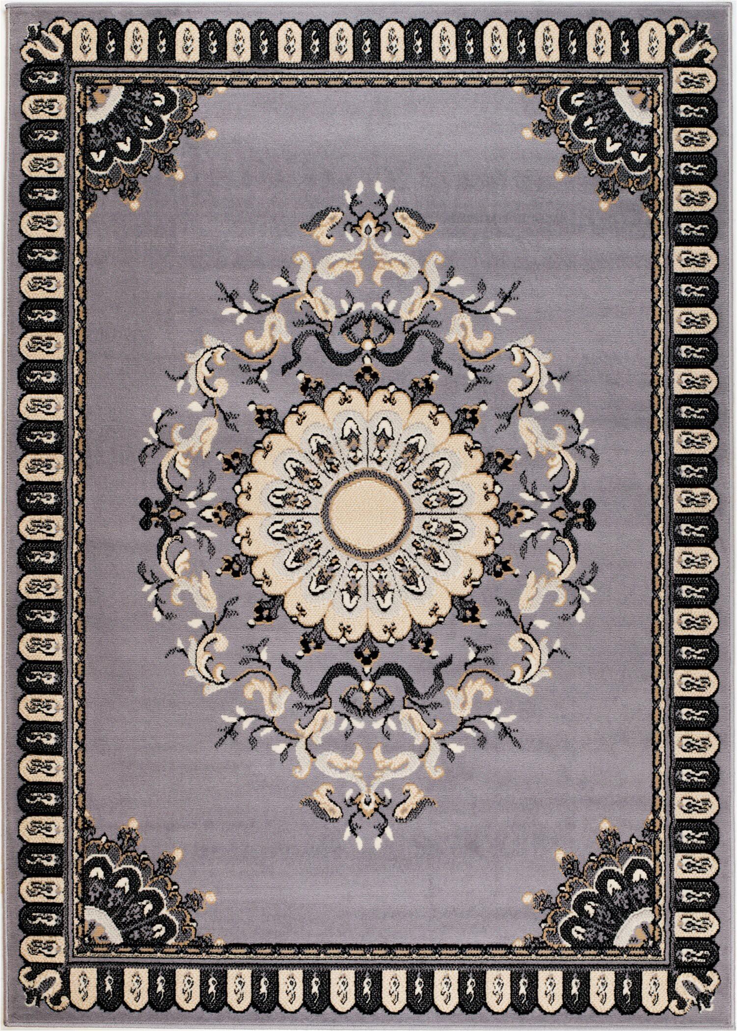 oppelo machine woven gray area rug