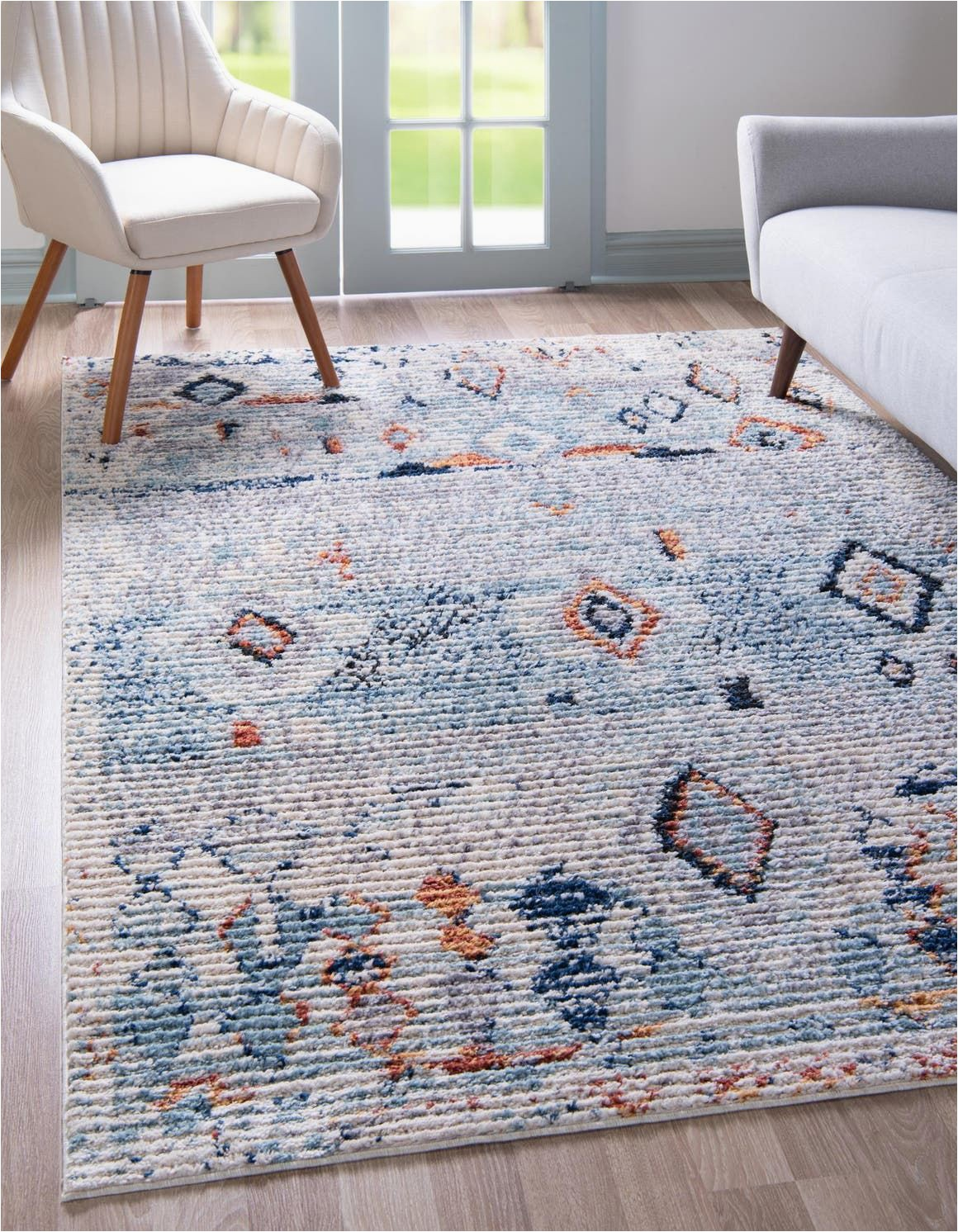 Overstock Rugs 8×10 Blue Light Blue 5 X 8 Morocco Rug Esalerugs In 2020