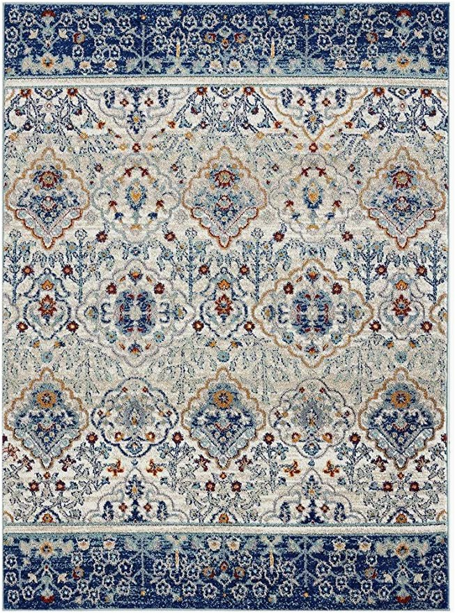 Overstock Rugs 8×10 Blue Luxe Weavers Transitional Blue 8×10 area Rug