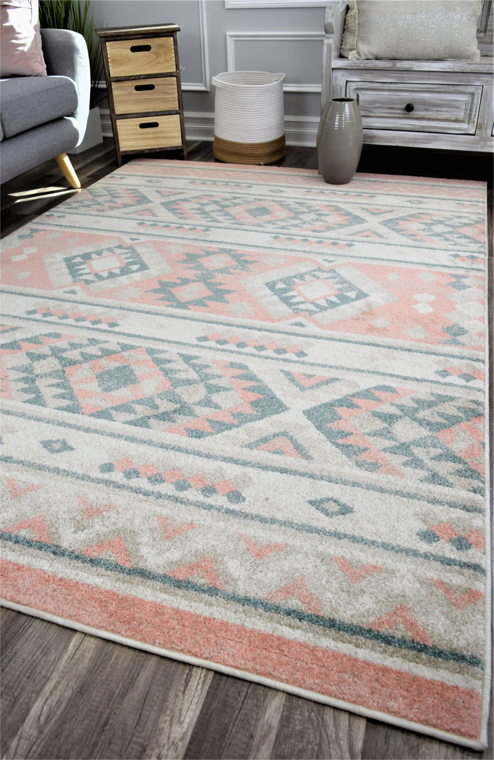 wyndmoor peach area rug
