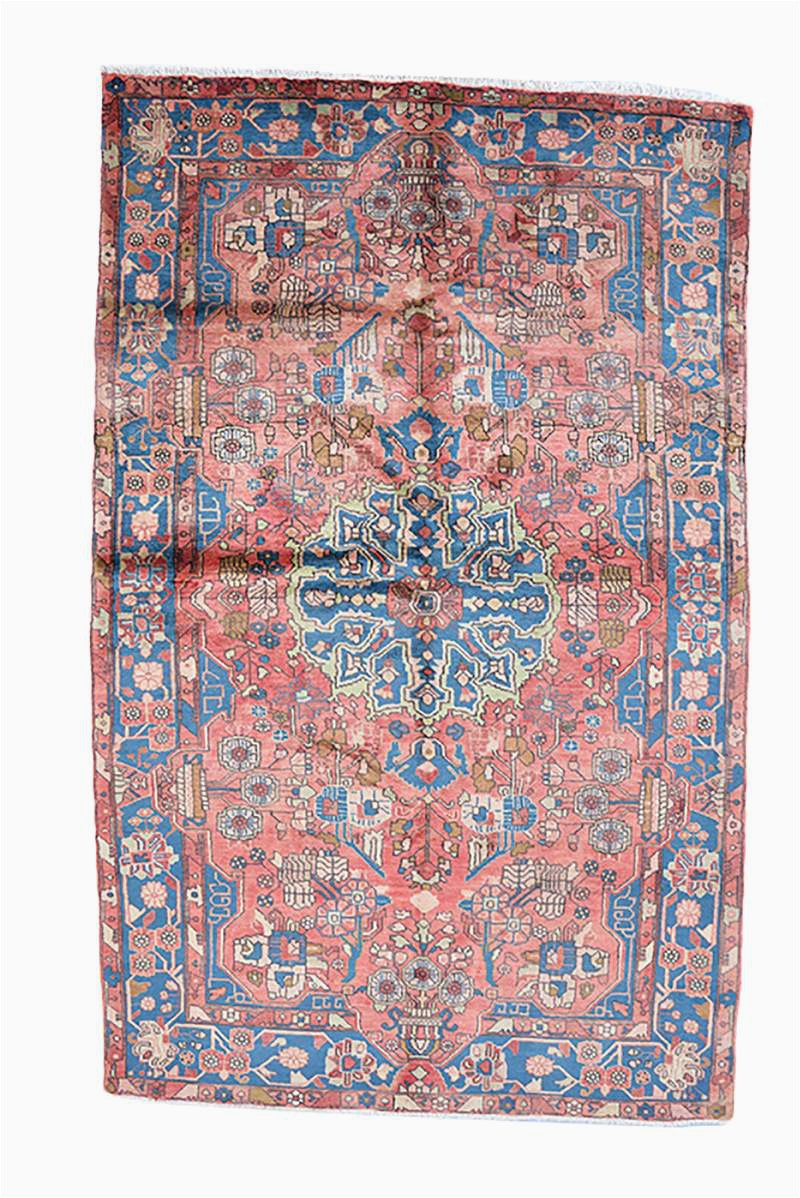 Pink and Blue Persian Rug Monett – Made with Loom