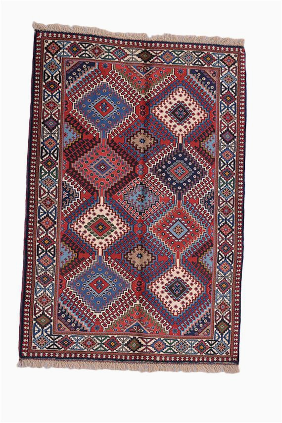 Pink and Blue Persian Rug Vintage Tribal Rug Pink Blue Rug Afghan Persian Rug Diamond Pattern Rug 3 X 5 Feet