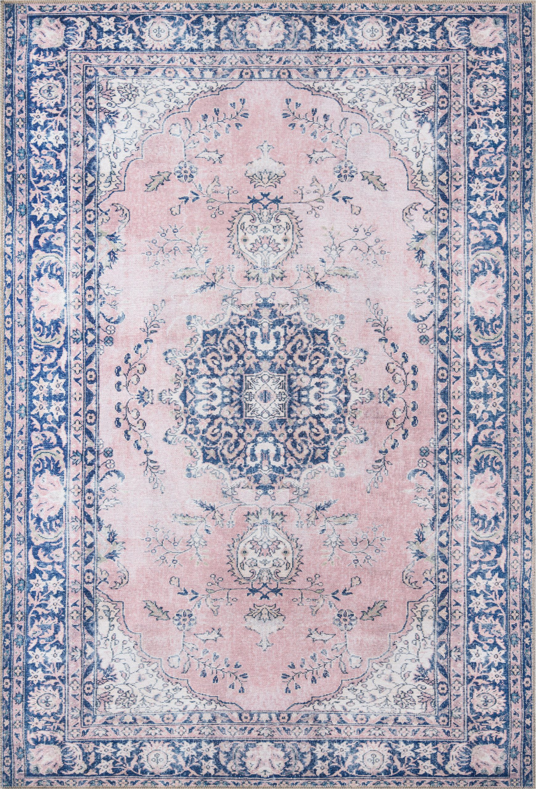neptune oriental pinkblue area rug