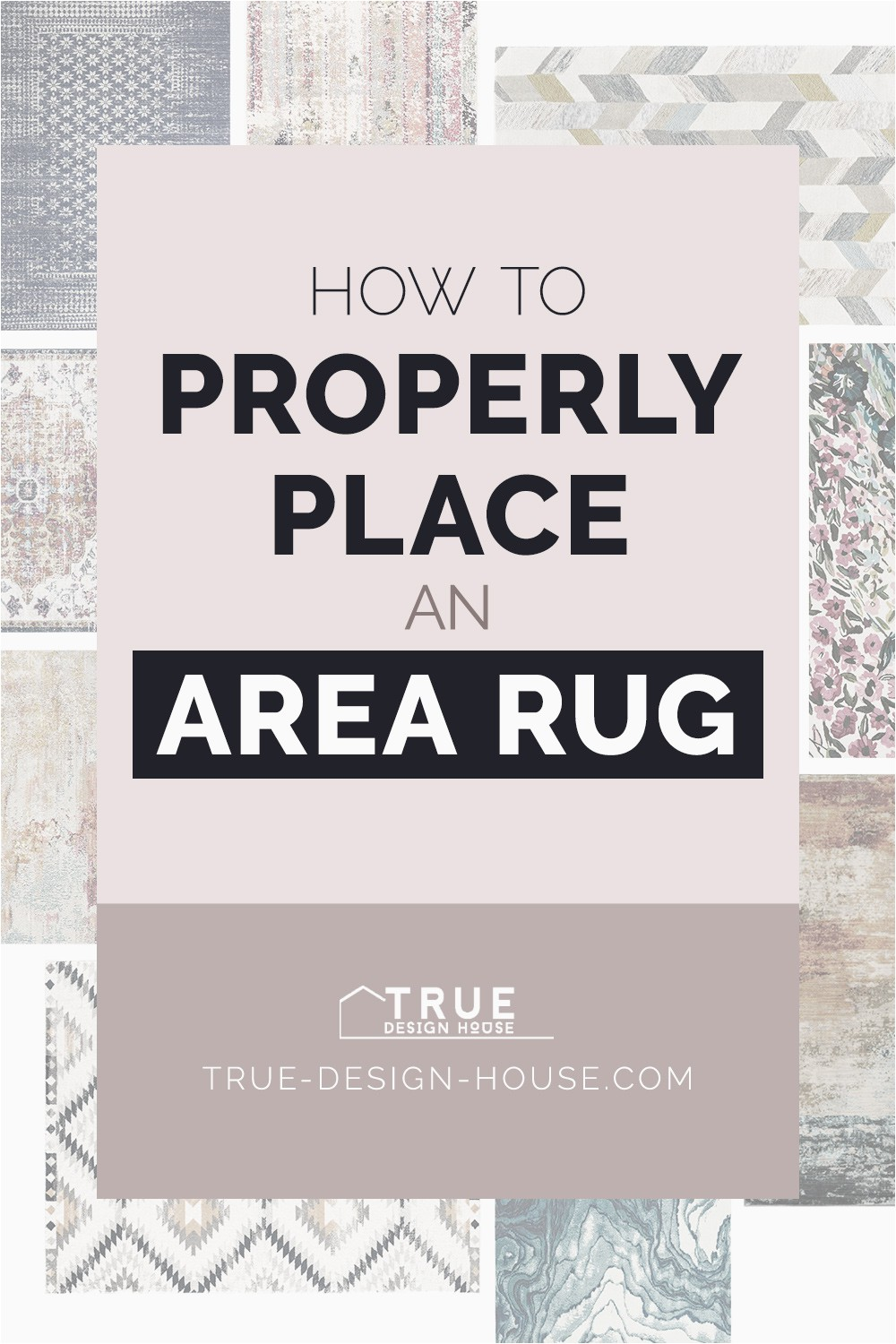 Placing area Rugs On Carpet How to Properly Place An area Rug — True Design House