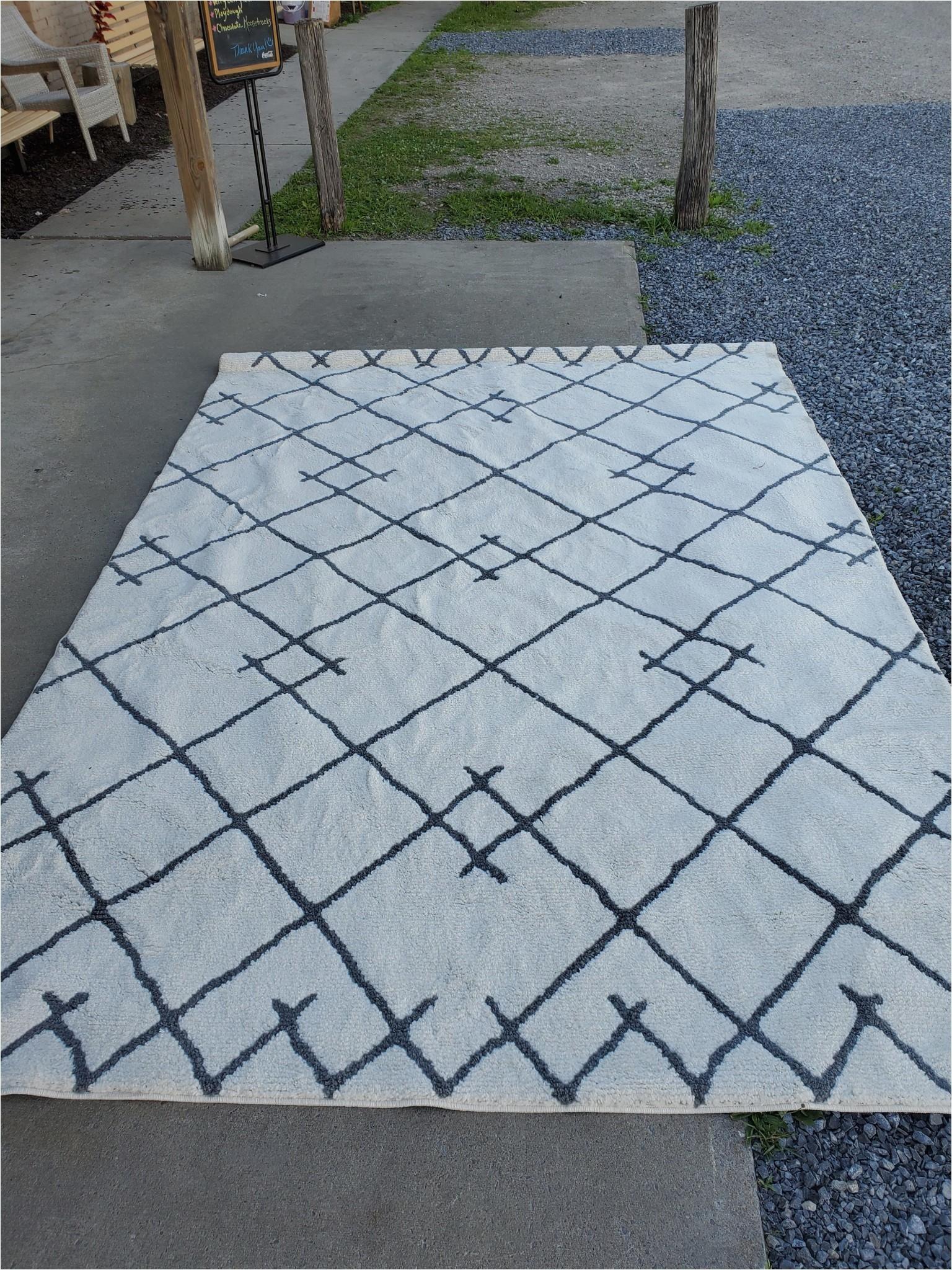 7x10 kenya fleece tribal design tufted area rug cr