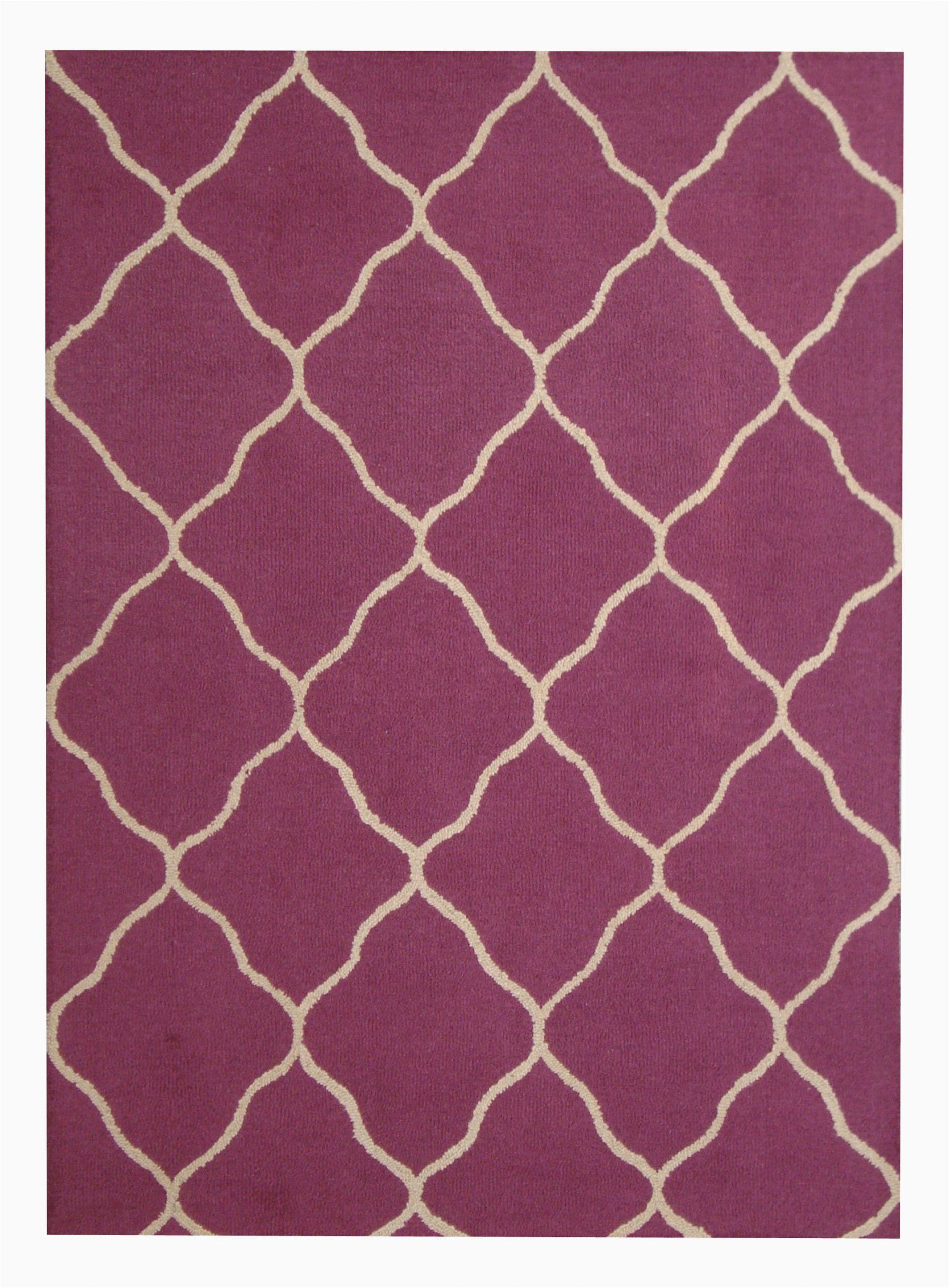 hand tufted wool purplebeige area rug