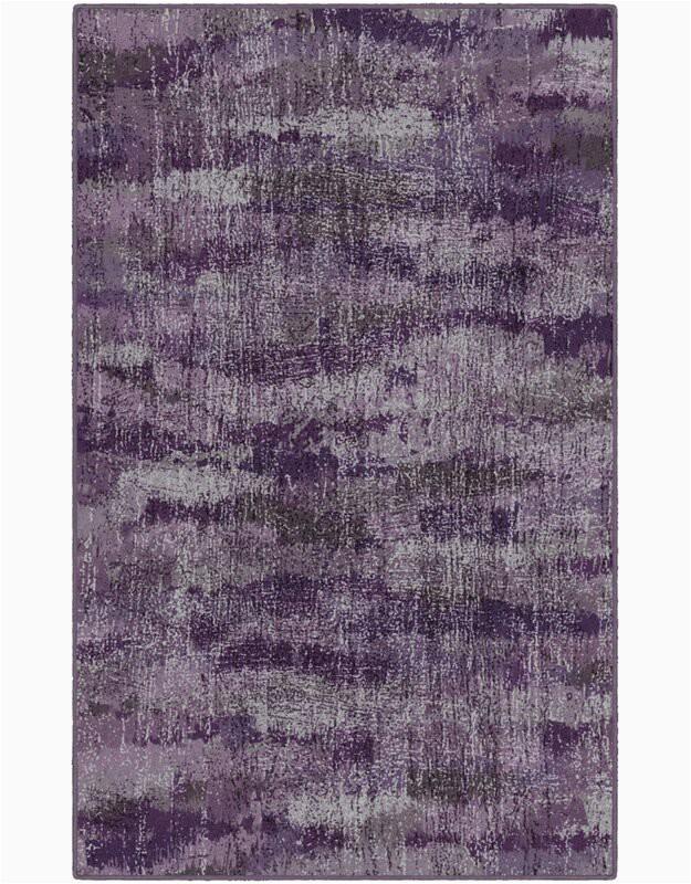 Medfield Plum Vintage Abstract Purple Area Rug
