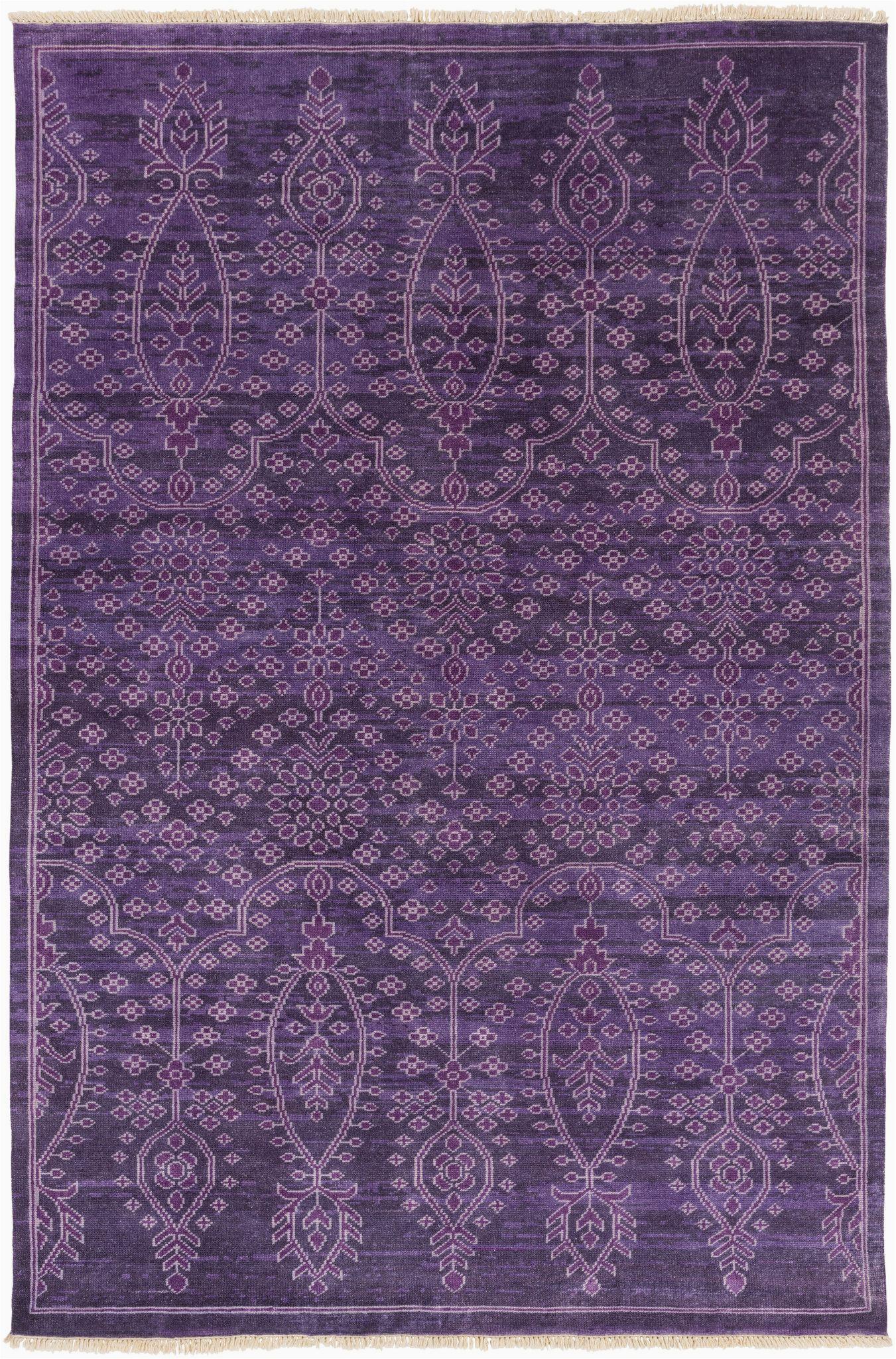 Purple area Rug for Bedroom Antique Rug In Purple Design by Surya