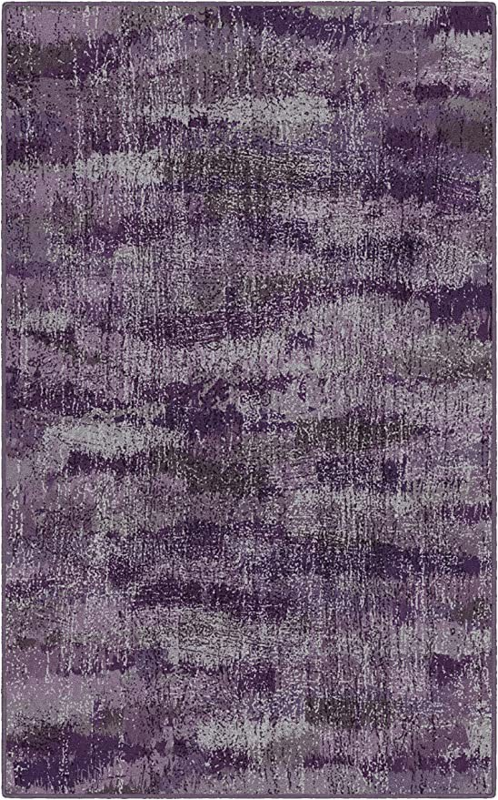 Purple area Rug for Bedroom Brumlow Mills Rustic Abstract Bohemian Home Indoor area Rug with Contemporary Colorful Purple Print Pattern for Living Room Decor Dining Room