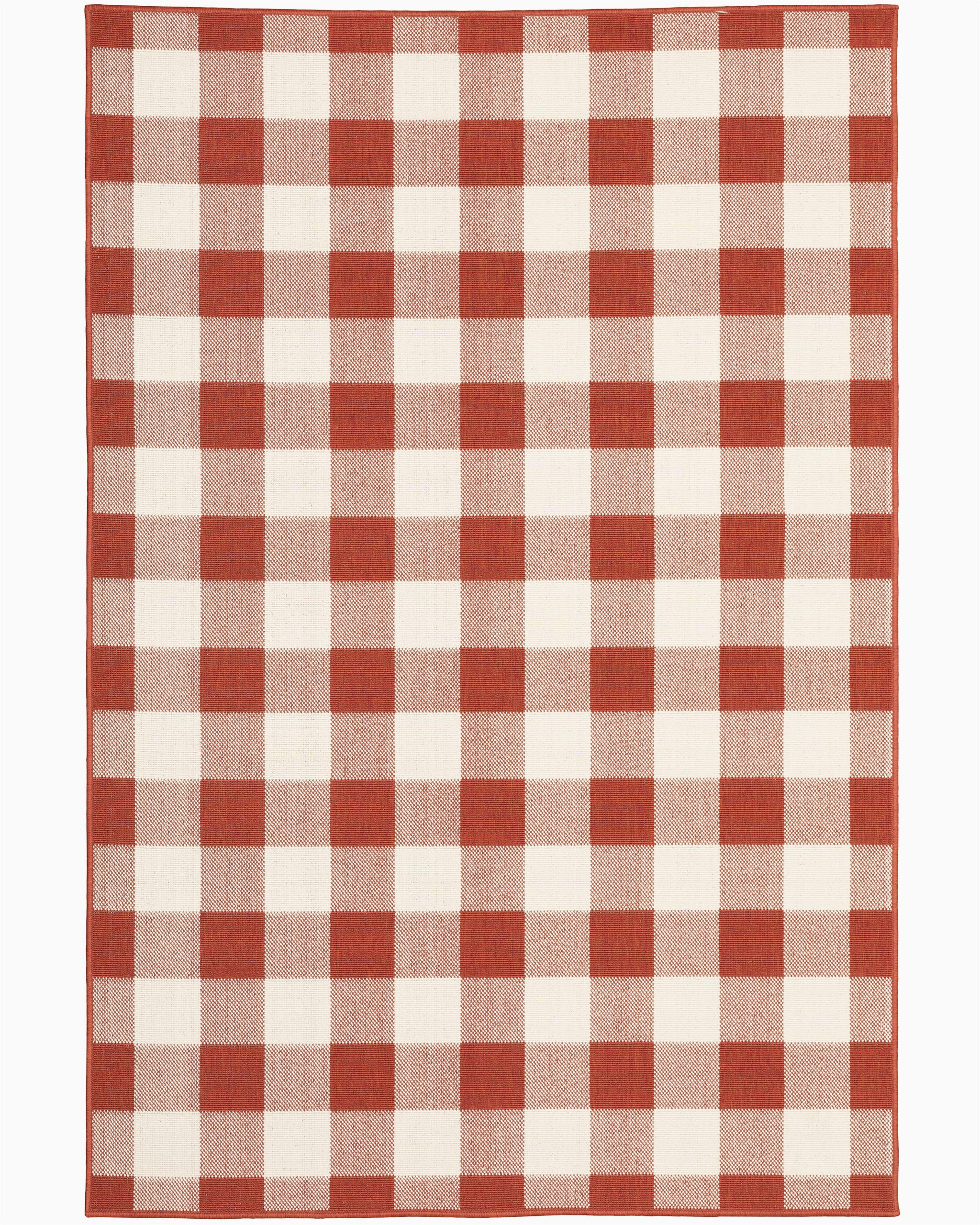 Red and Black Buffalo Check area Rug Leighty Plaid Hooked Red Ivory Indoor Outdoor area Rug