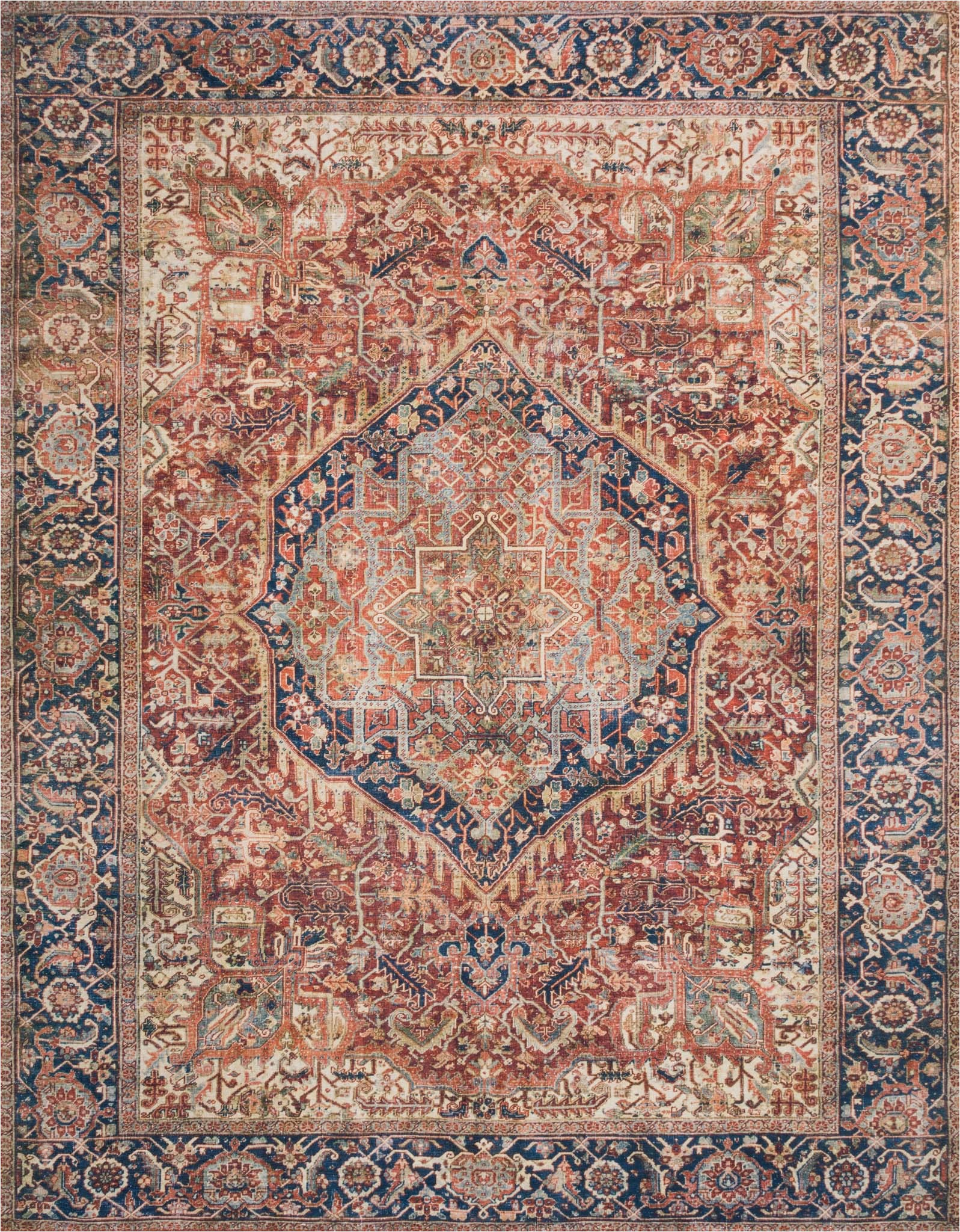 Red and Brown area Rugs Walmart Loloi Ii Layla Printed oriental Distressed Red Navy area Rug