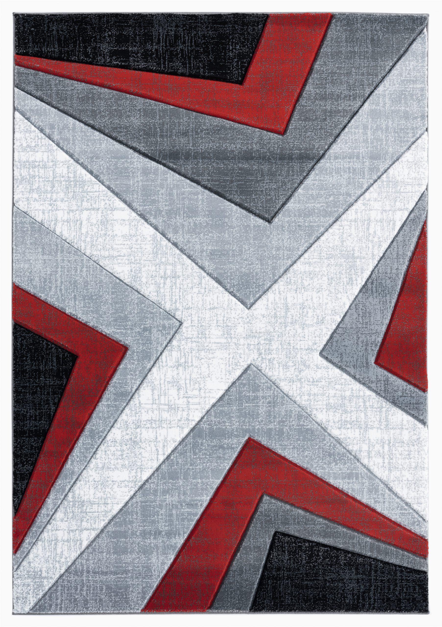 zonia redblackgray area rug