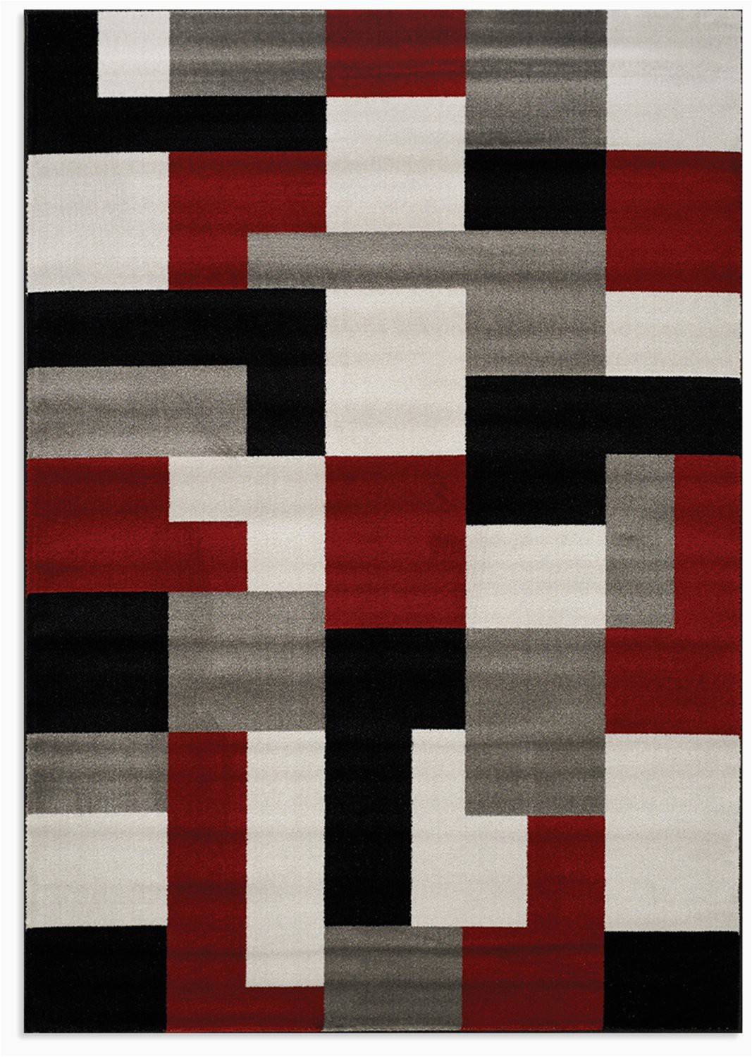 platinum red and grey area rug 5 x 8