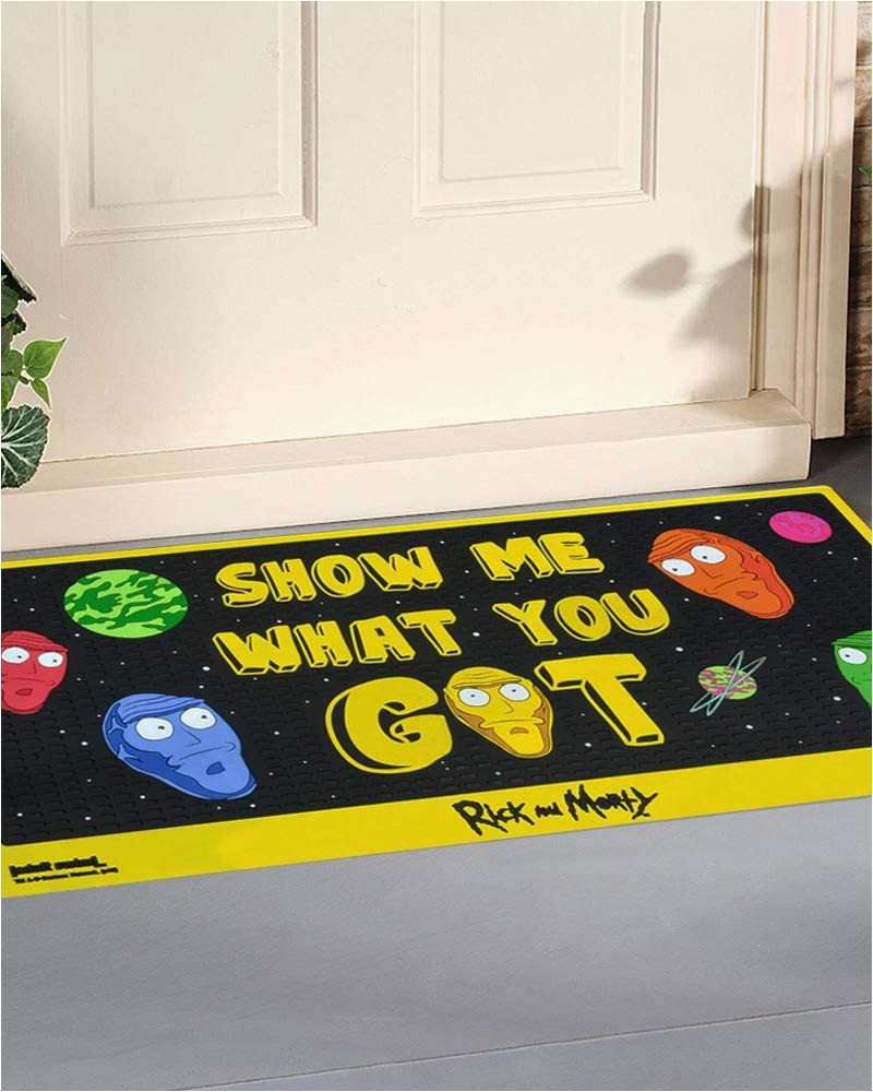 Rick and Morty area Rug Numskull Rick and Morty Door Mat Floor Mat Show Me What You Got