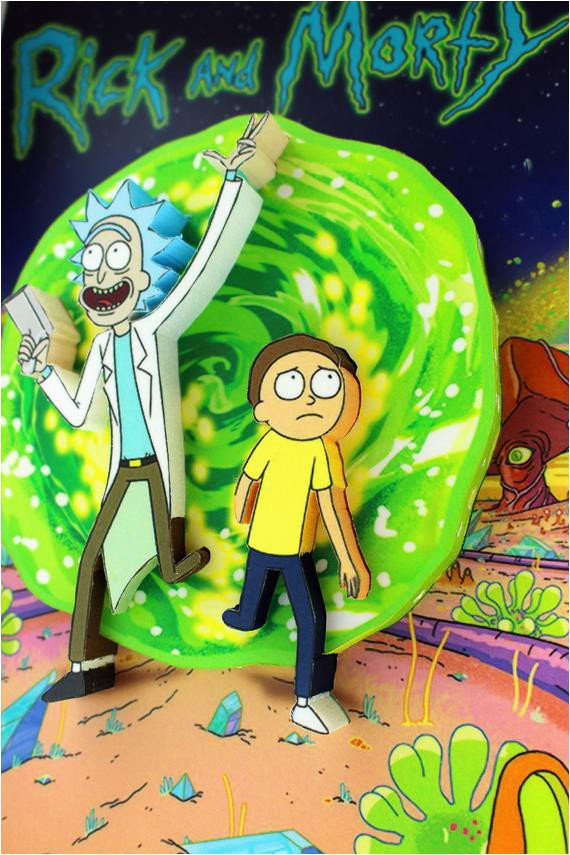 Rick and Morty area Rug Rick and Morty Tv Show 3d Pop Up Art Home Room Decor Gift for Fans Adult Swim Grown Up Young Kids Popular Cartoon Network Trendy Edy