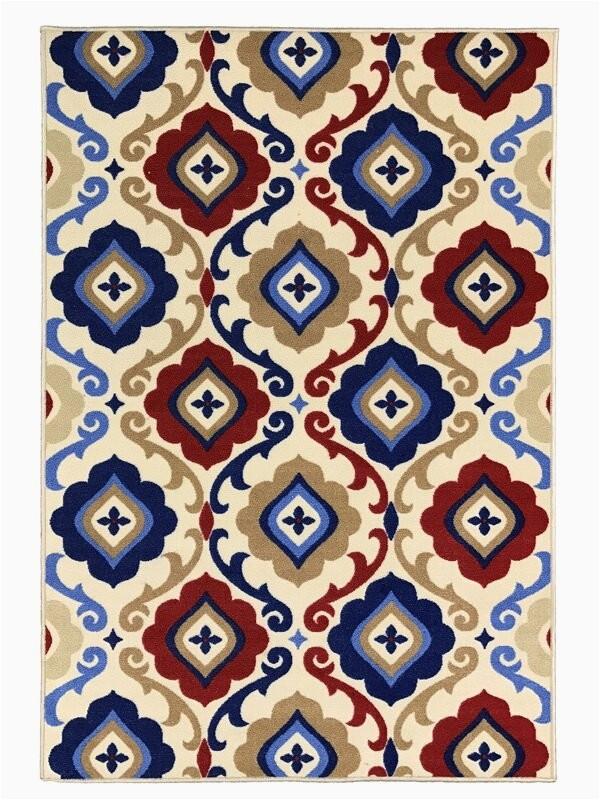 toccoa unique trellis trendy non skid rubber backed multicolor area rug