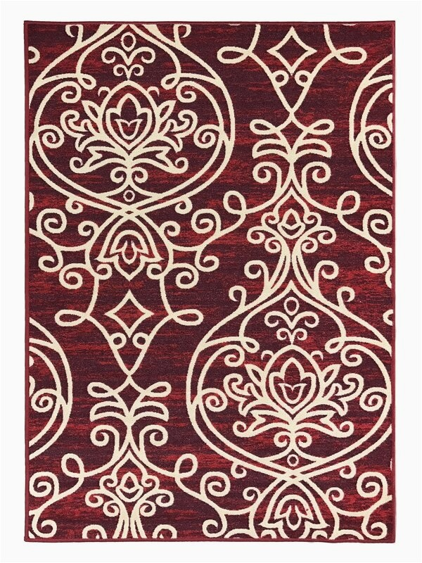 toccoa trendy non skid rubber backed multicolor area rug