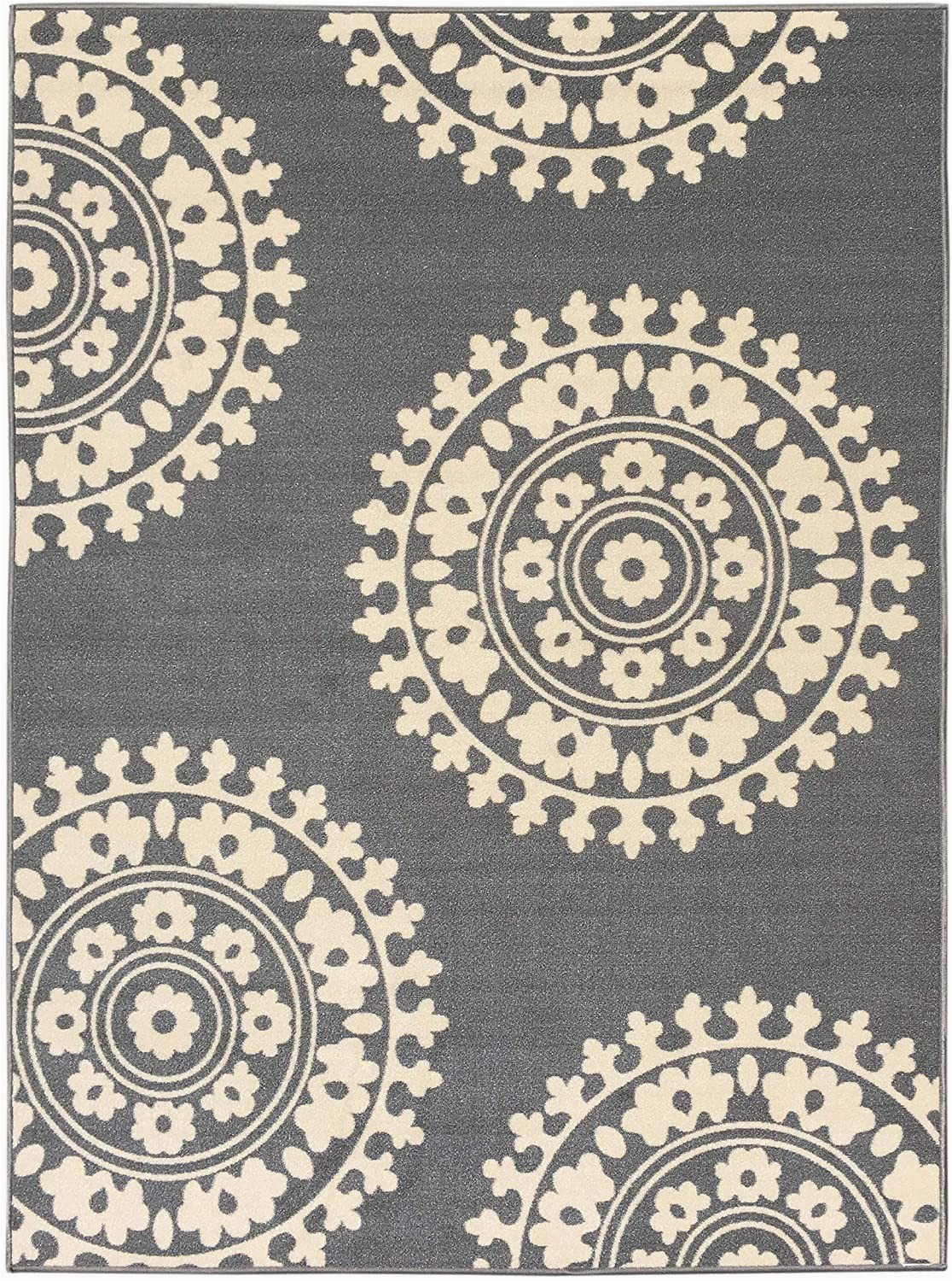 Rubber Backed area Rugs 8×10 Qute Home European Medallion Non Slip Rubber Backed area Rugs & Runner Rug Grey Ivory 3 Ft X 5 Ft area Rug