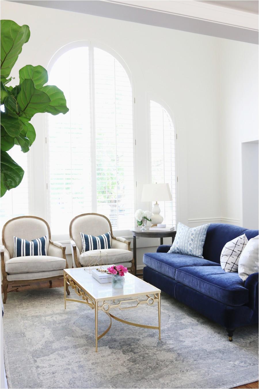 Blue Velvet Sofa via studio mcgee