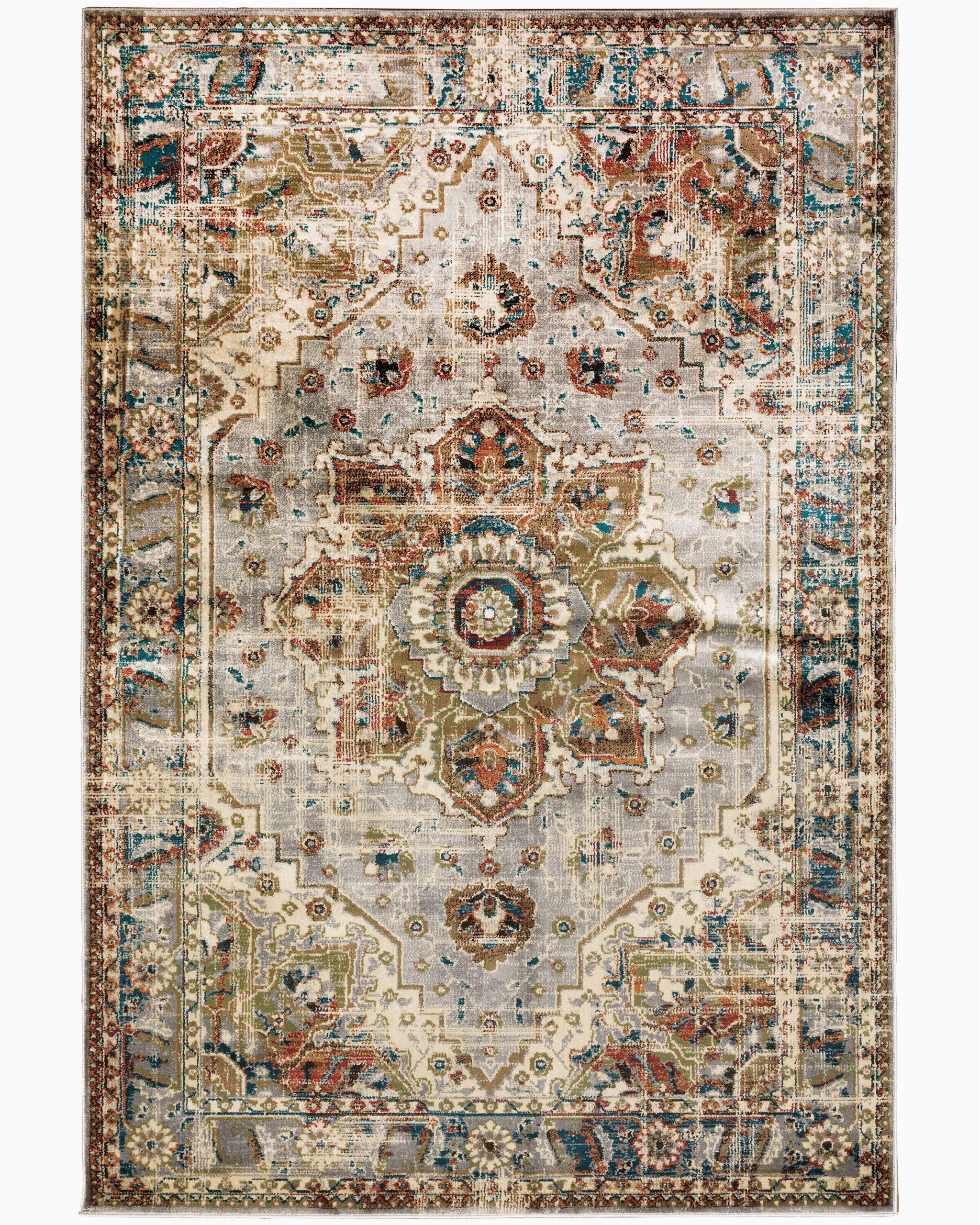 ubon oriental grayrust area rug