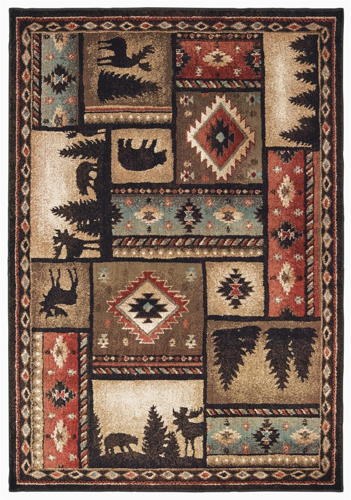 Rustic Lodge Style area Rugs Woodlands 1041c Rustic Lodge Fishing Hunting area Rugs Runners 1 10 X 3 Ft