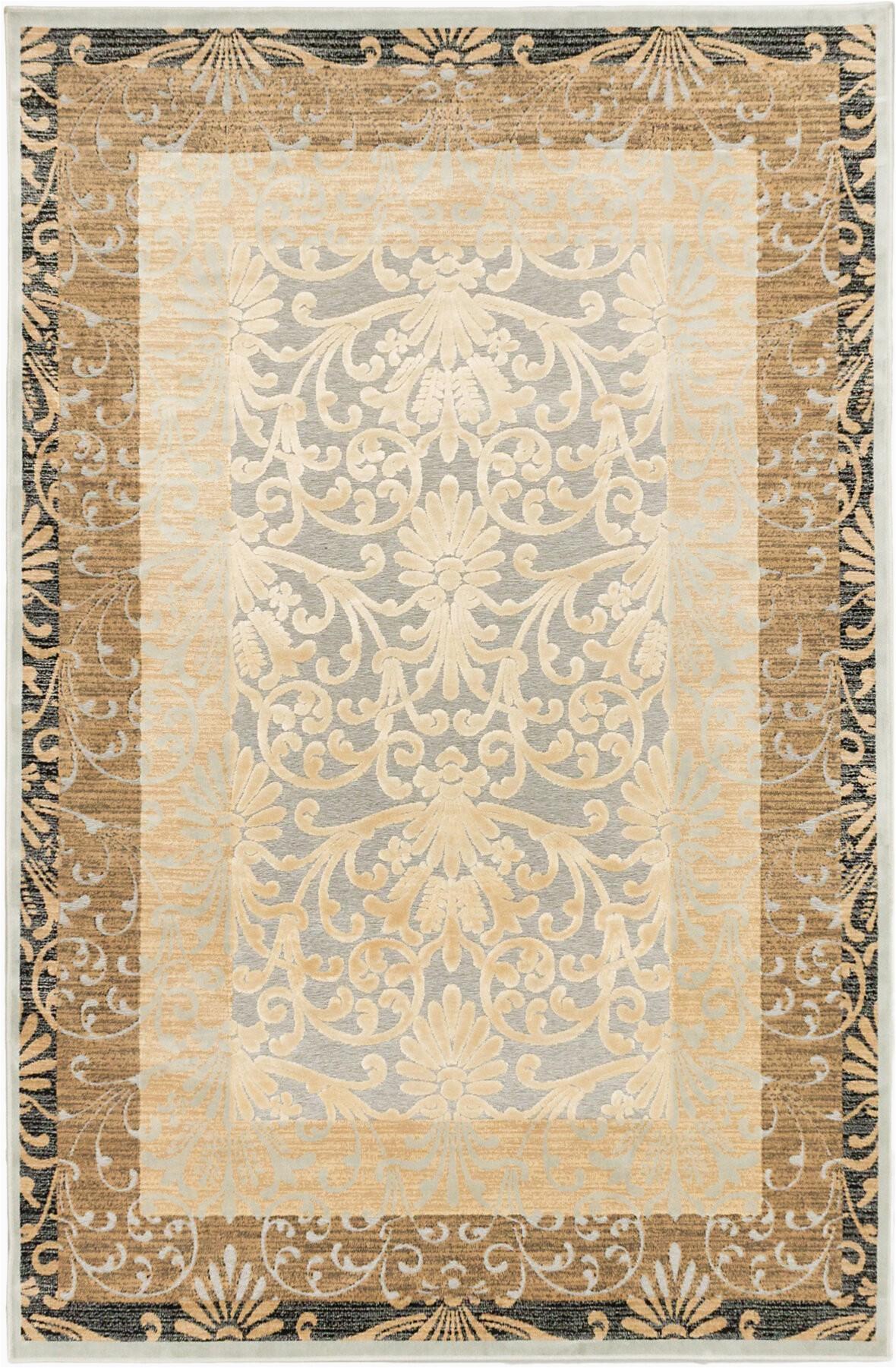 bonella ivorylight gray area rug