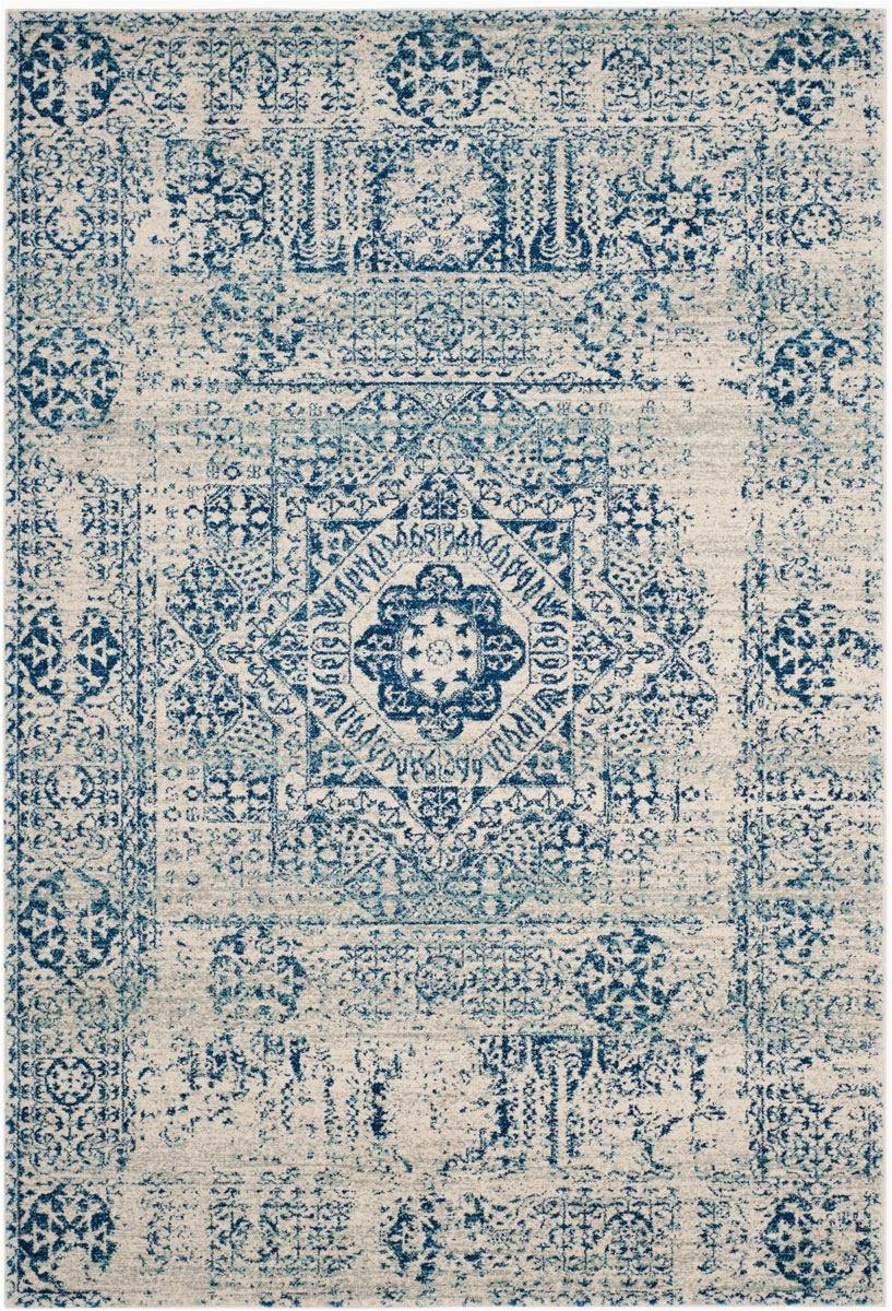 safavieh evoke evk260c ivory blue area rugx