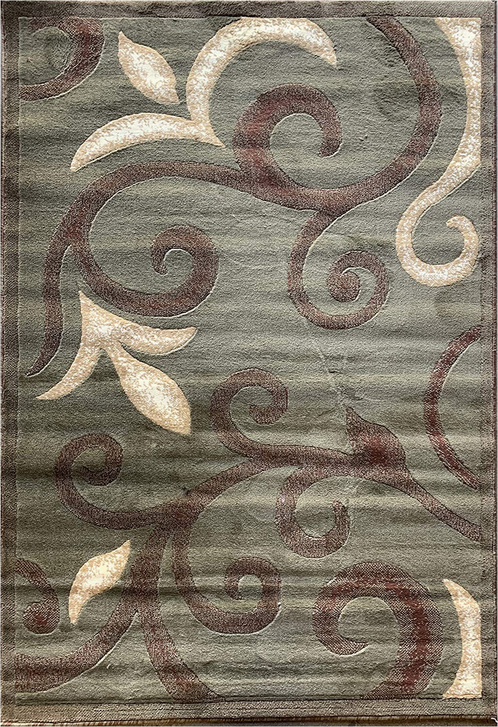 Sage Green and Brown area Rug Emirates Modern area Rug Contemporary Sage Green & Brown