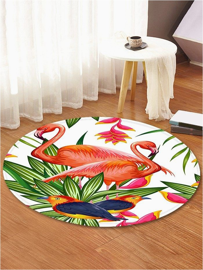 Seventh Avenue Com area Rugs Pictures Flamingo and Bird Pattern Anti Skid Round Floor Rug