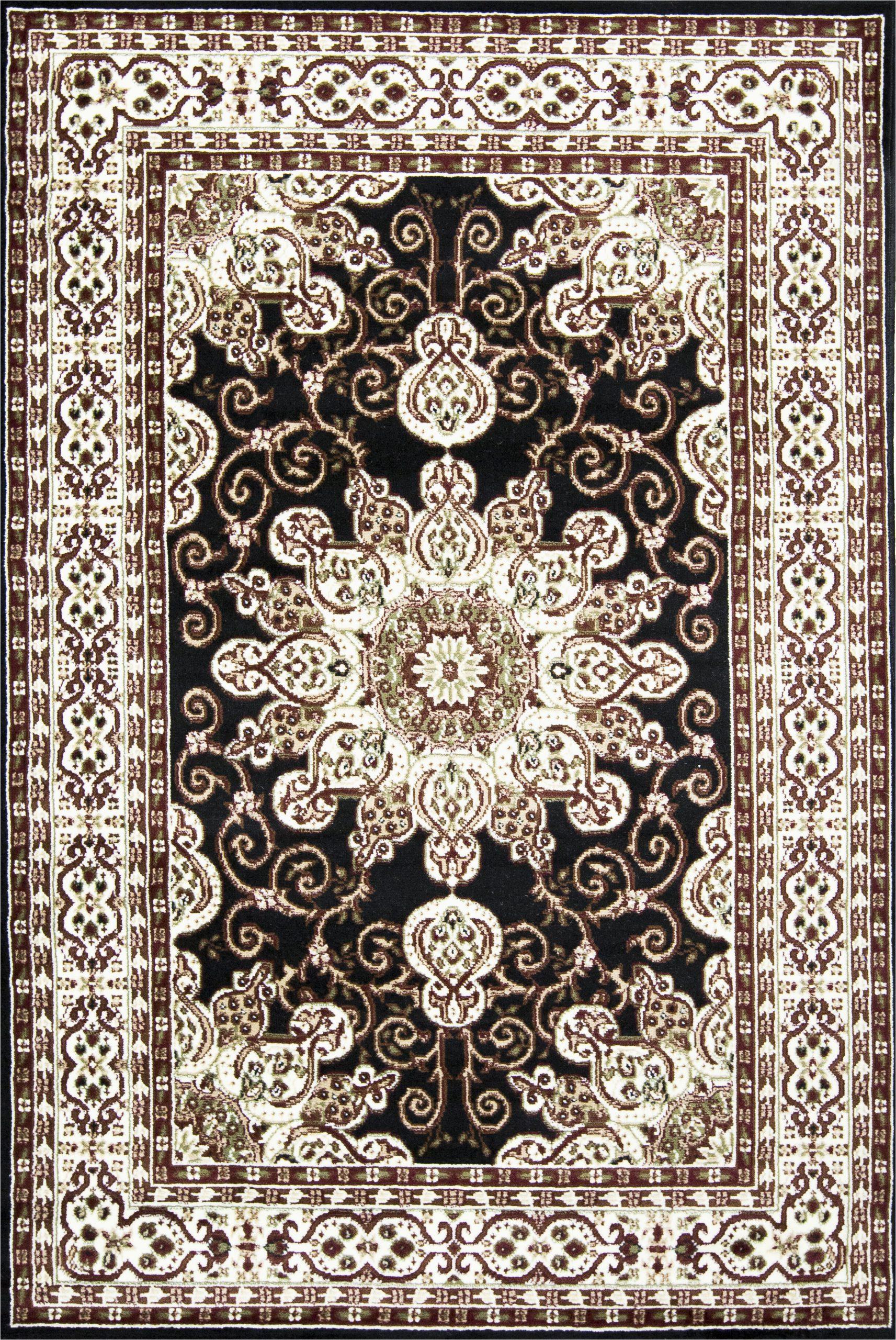 thanos oriental blackoff white area rug