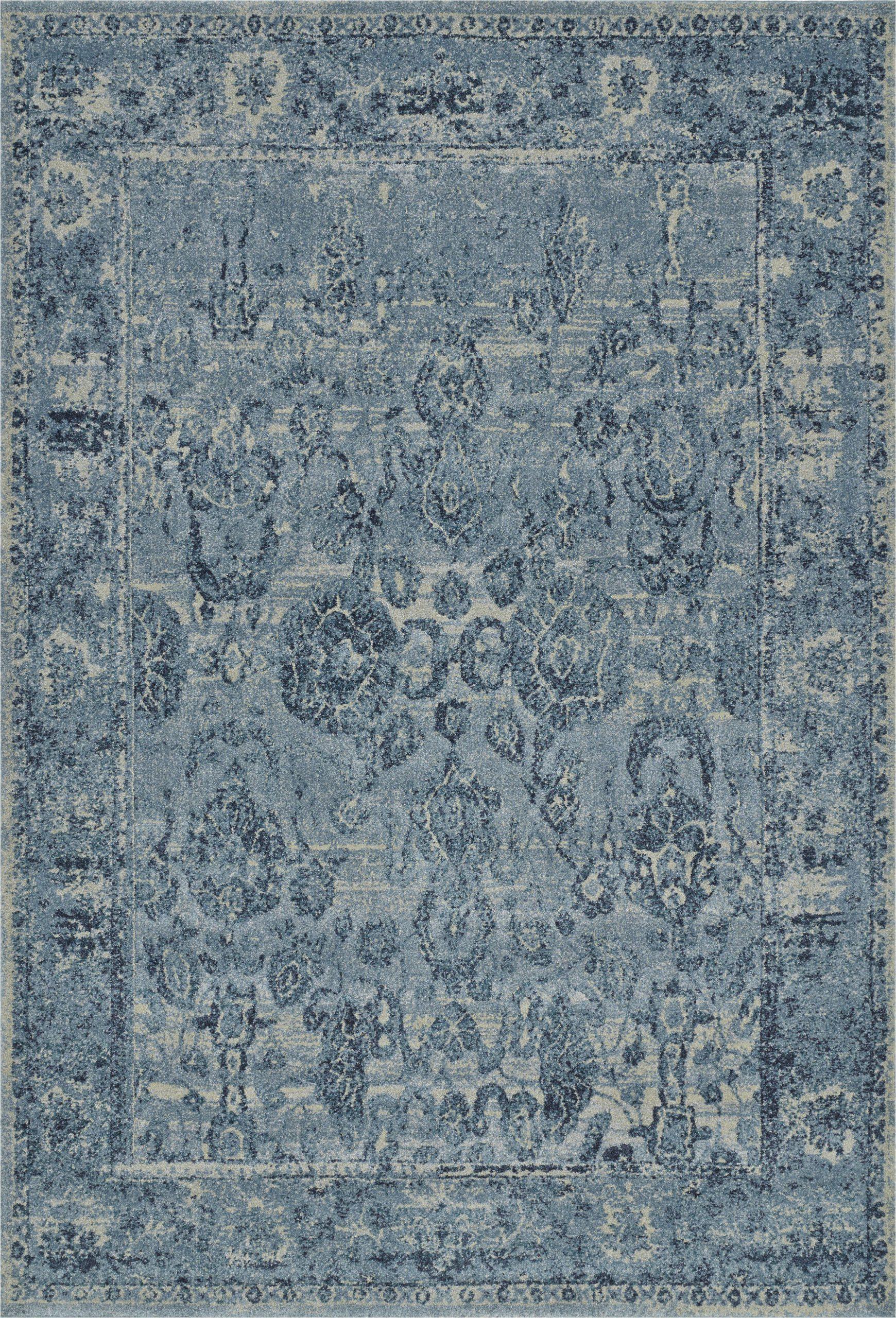palma oriental sky blue area rug