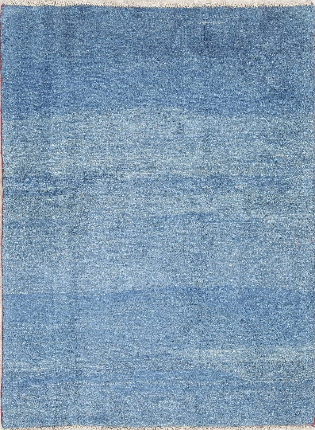 hand knotted blue solid gabbeh shiraz persian area wool rug 4x6