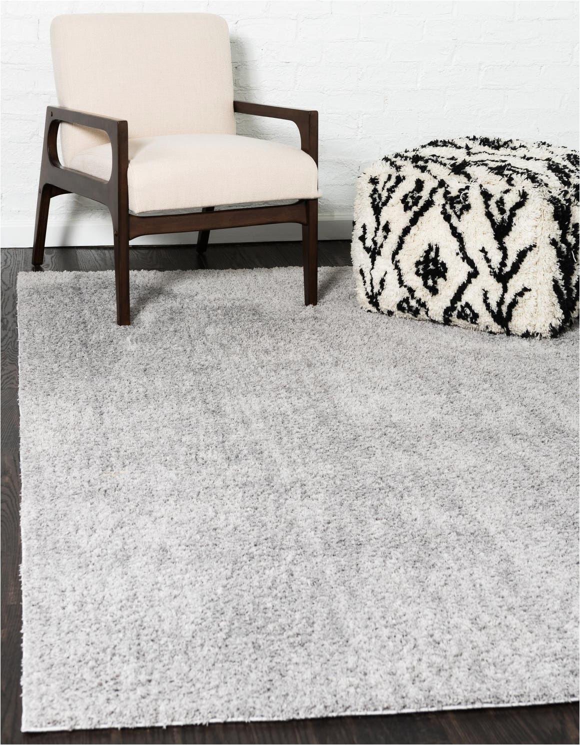 light gray 8x10 solid shag area rug
